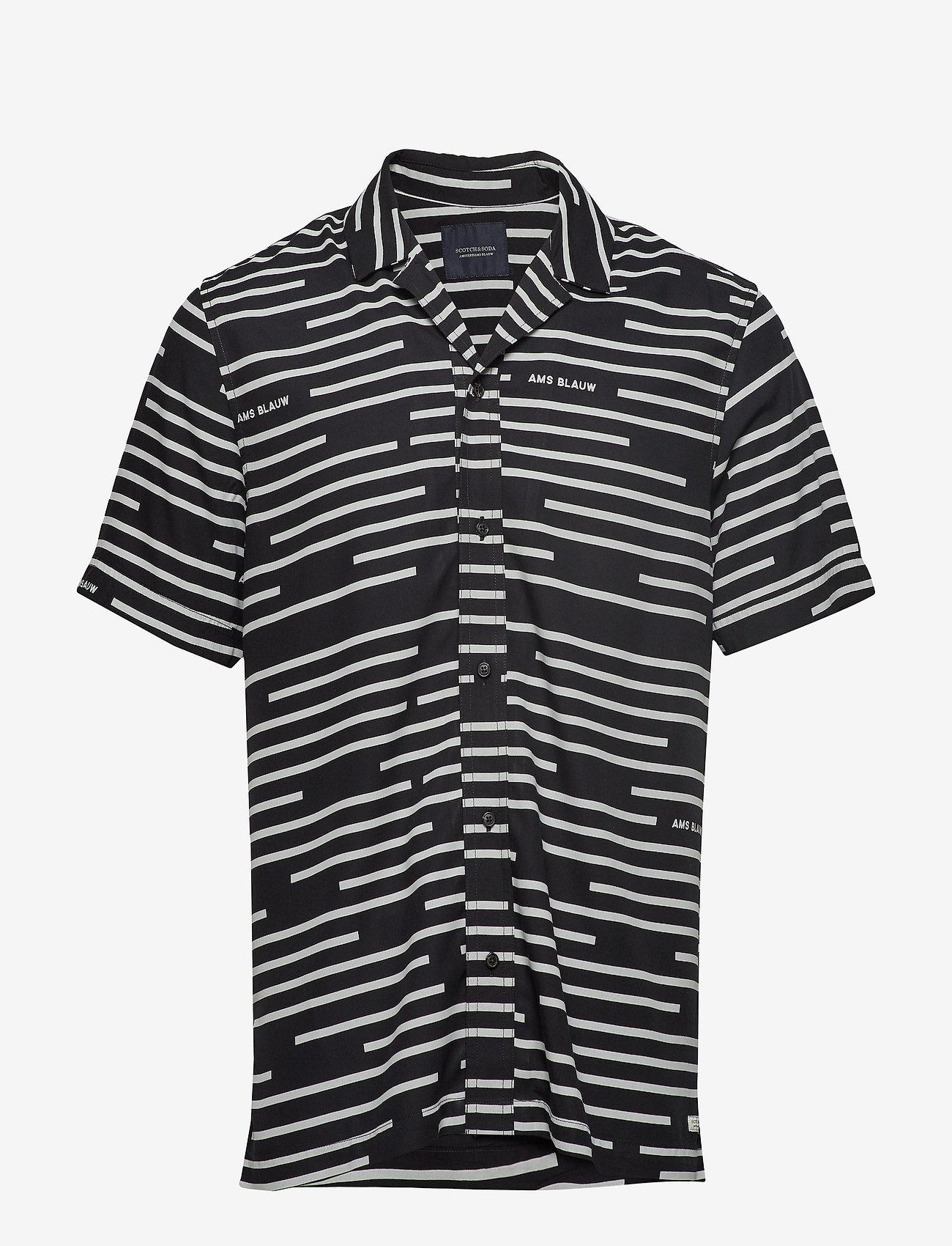 Scotch & Soda - Short sleeve shirt with prints - kortærmede skjorter - combo a - 0