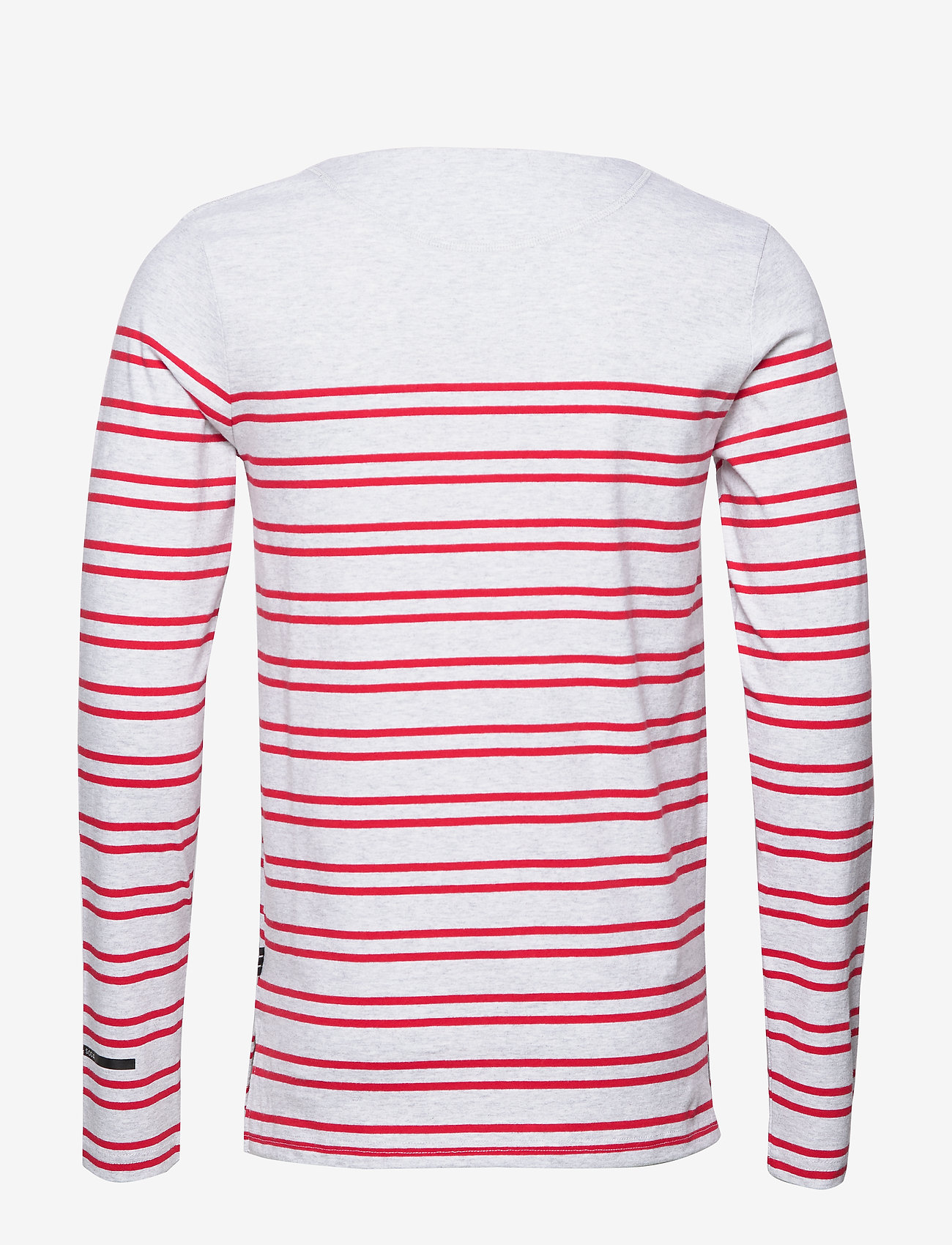 Scotch & Soda - Breton in engineered stirpes and boat neck - langærmede t-shirts - combo a - 1