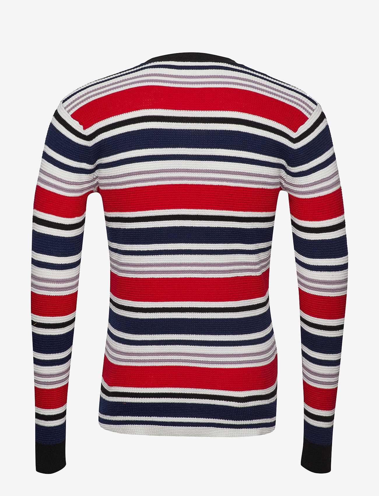 Scotch & Soda - Longsleeve tee in 3D waffle with deck chair stripes - pulls col rond - combo a - 1