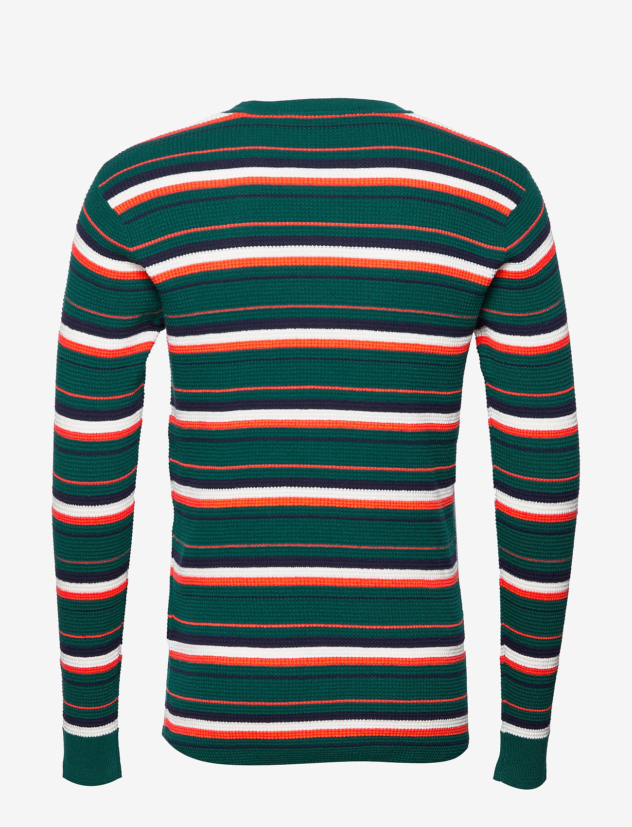 Scotch & Soda - Longsleeve tee in 3D waffle with deck chair stripes - pulls col rond - combo b - 1