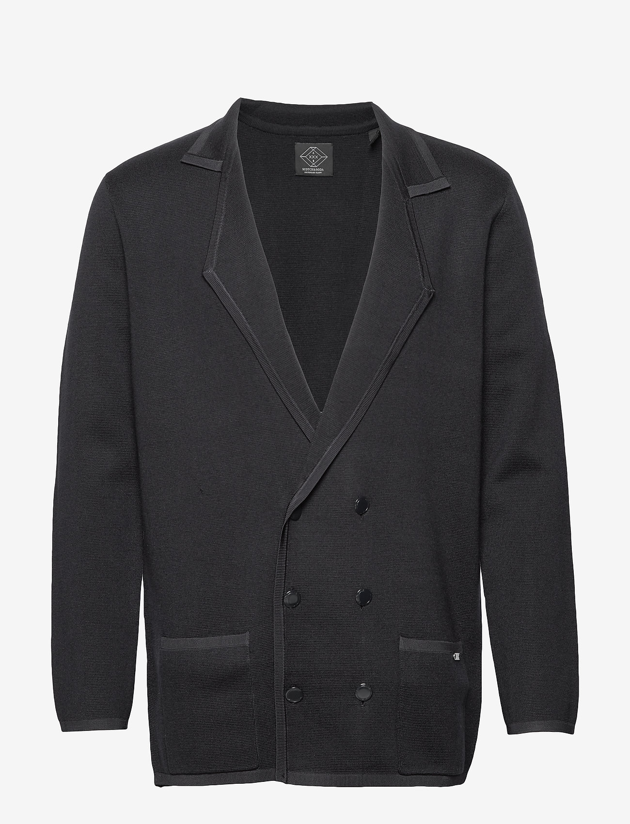 Scotch & Soda - New longer length double breasted knitted blazer - tricots basiques - night - 0