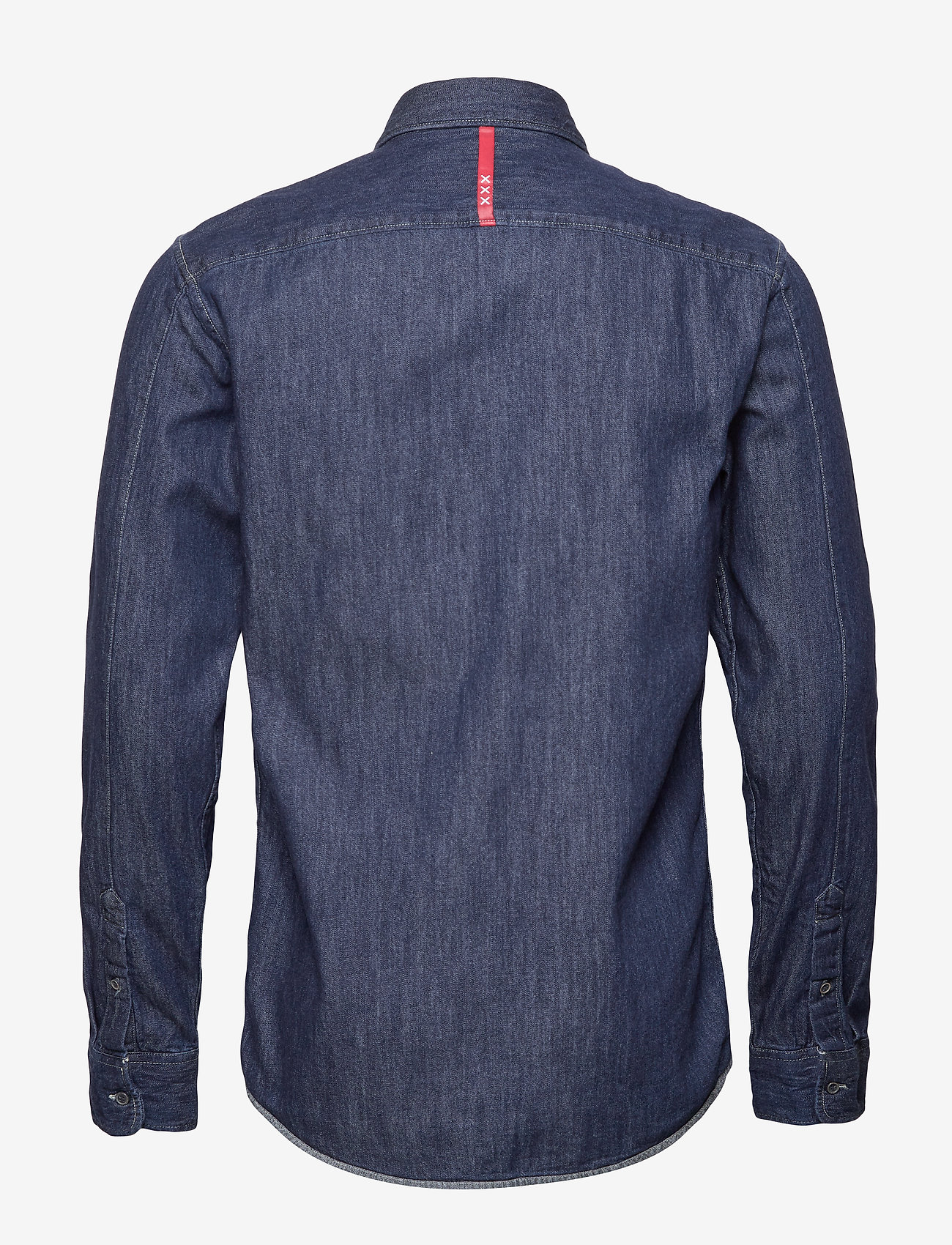 Scotch & Soda - Ams Blauw regular fit denim shirt with pochet pocket detail - peruspaitoja - indigo blue - 1