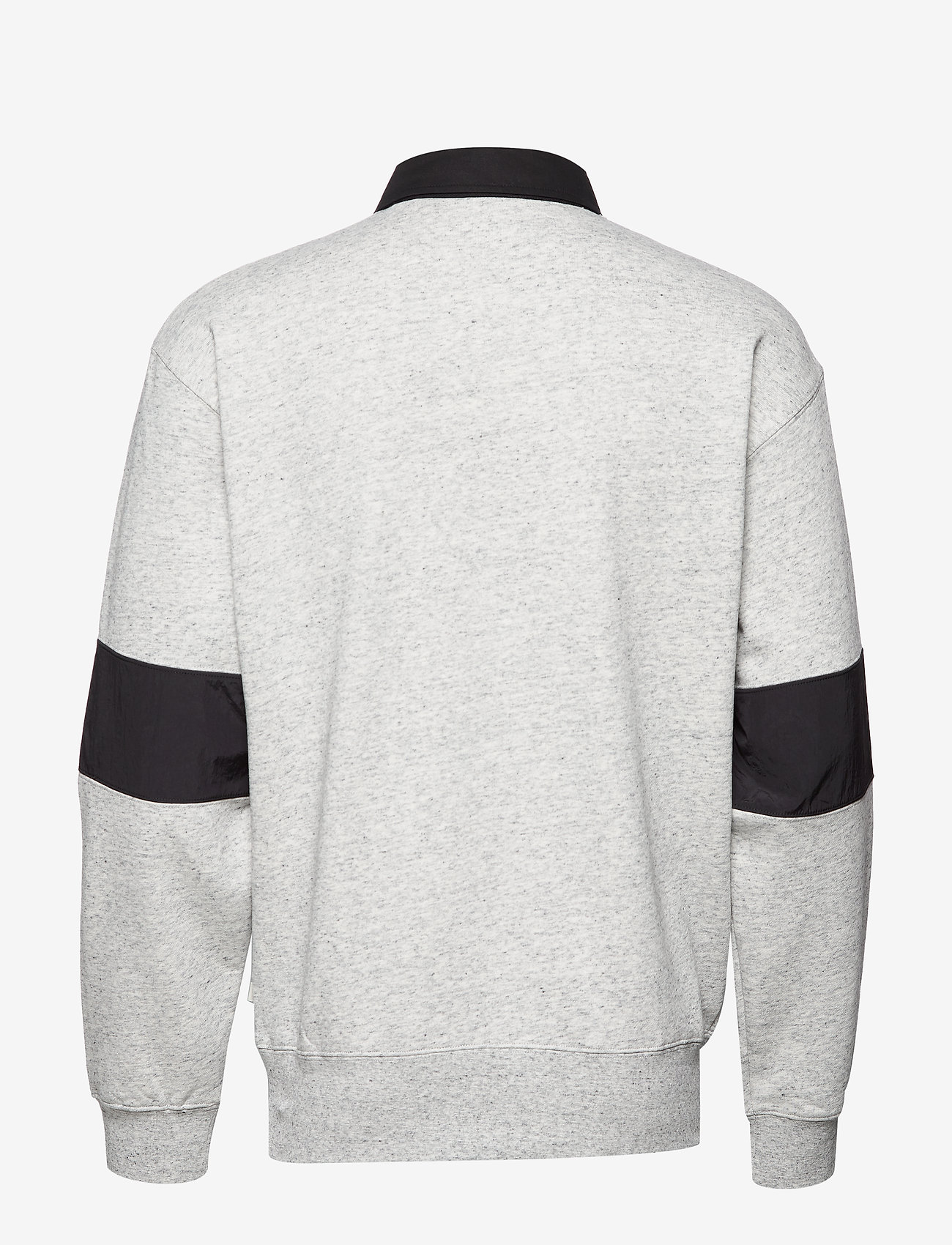Scotch & Soda - Polo sweat with technical woven  details - polos à manches longues - light grey melange - 1