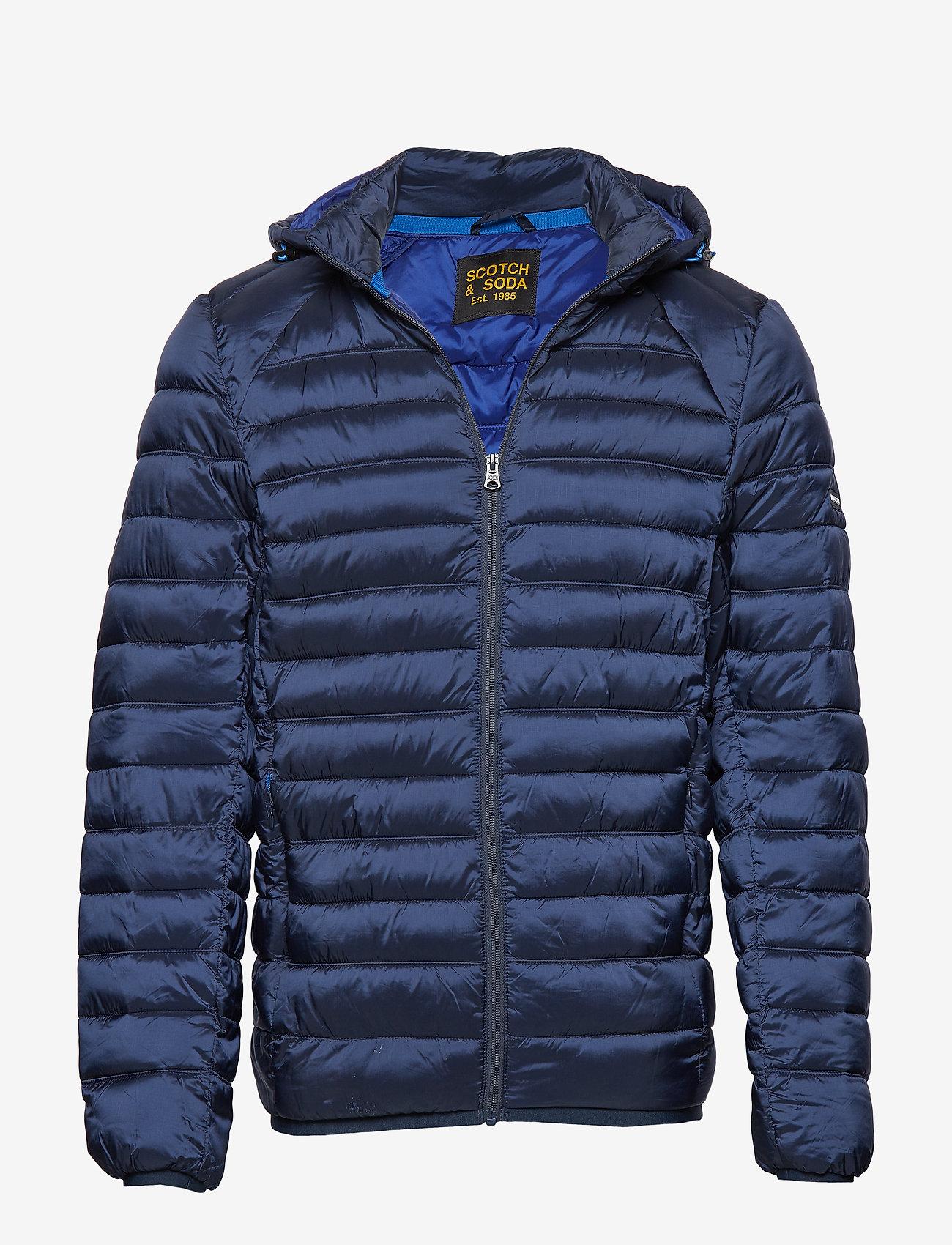 Scotch & Soda - Classic hooded light weight padded jacket - vestes matelassées - navy - 0