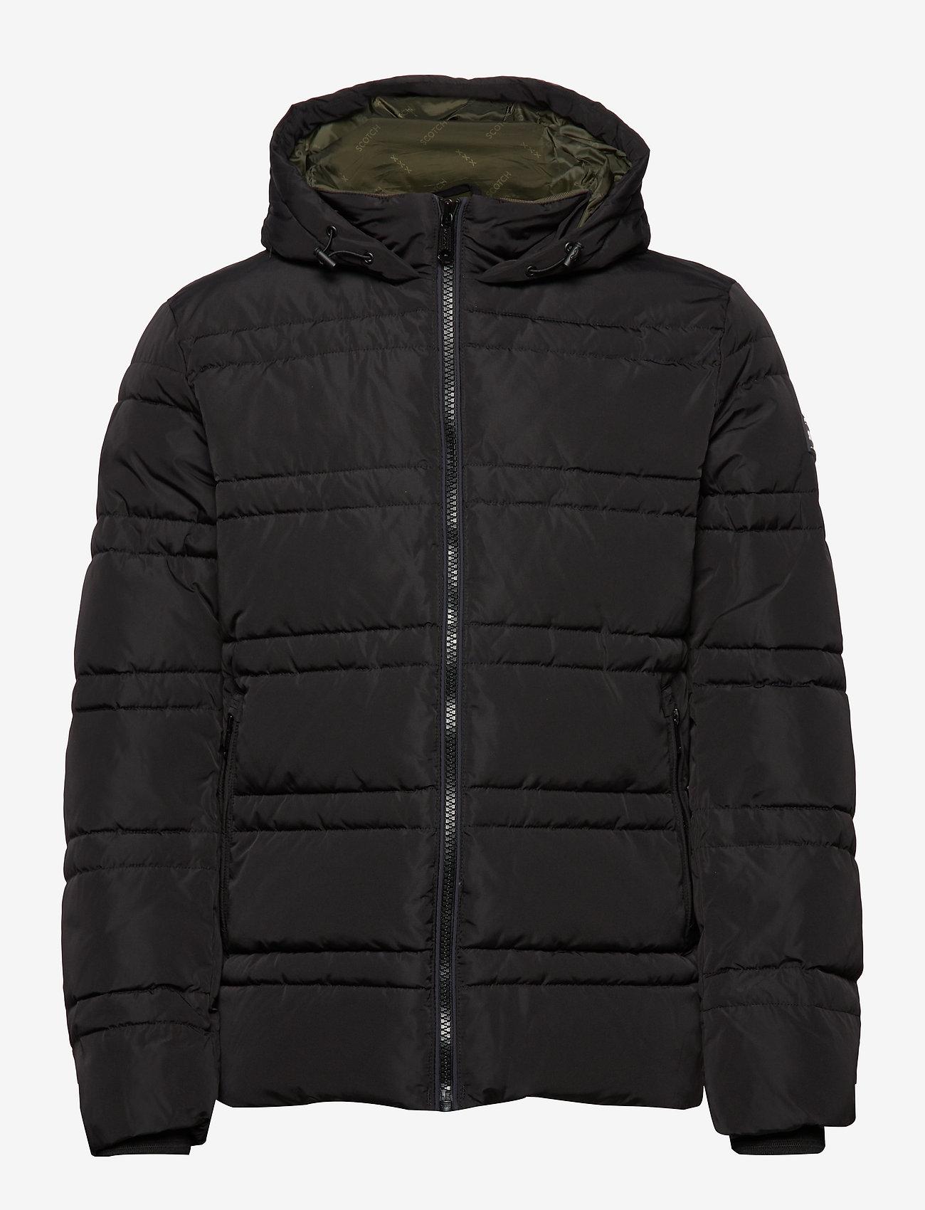 Scotch & Soda - Classic hooded PrimaLoft jacket - vestes matelassées - black - 1