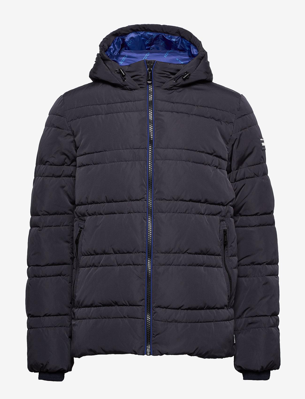 Scotch & Soda - Classic hooded PrimaLoft jacket - vestes matelassées - night - 1