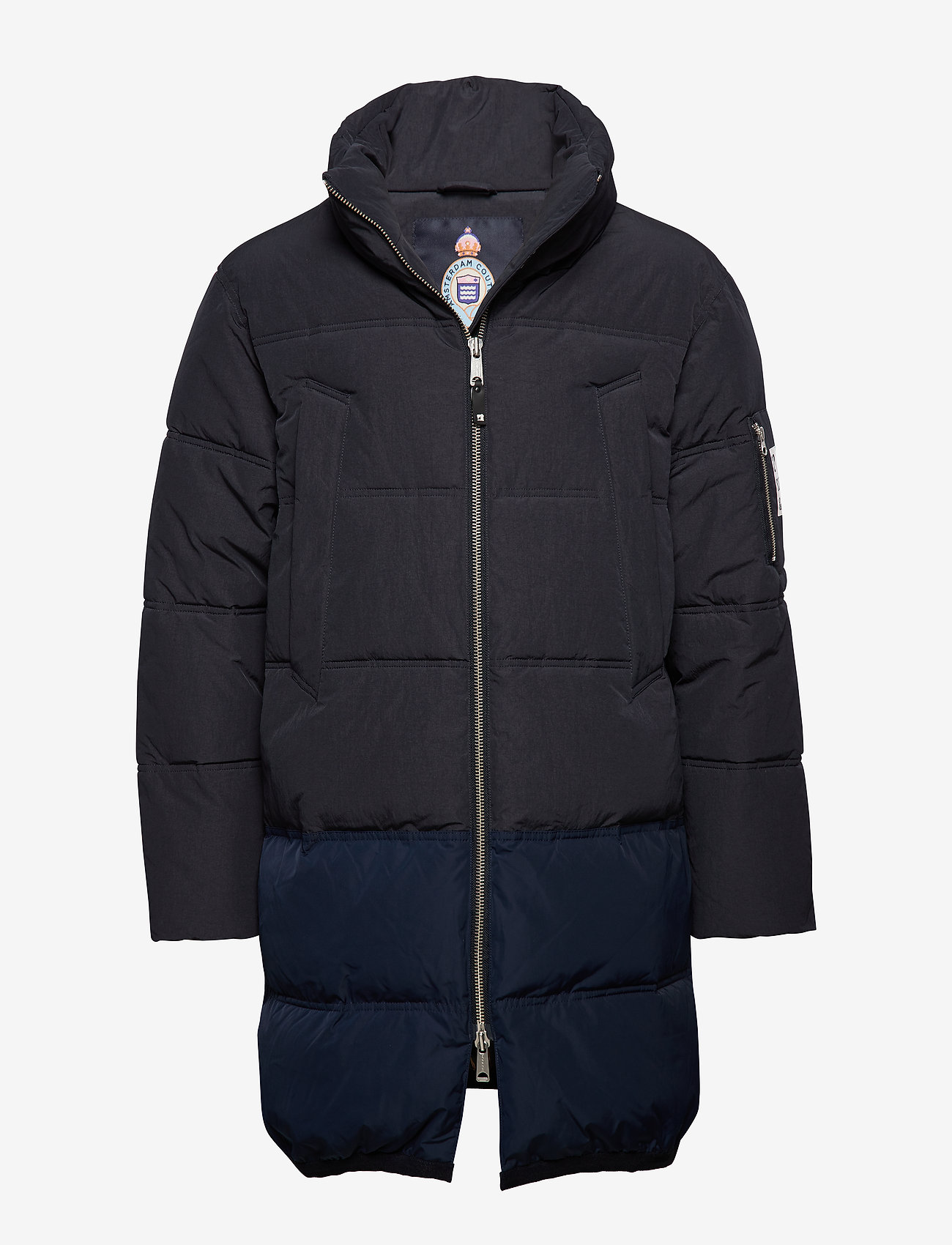Scotch & Soda - Long quilted down jacket - vestes matelassées - night - 0