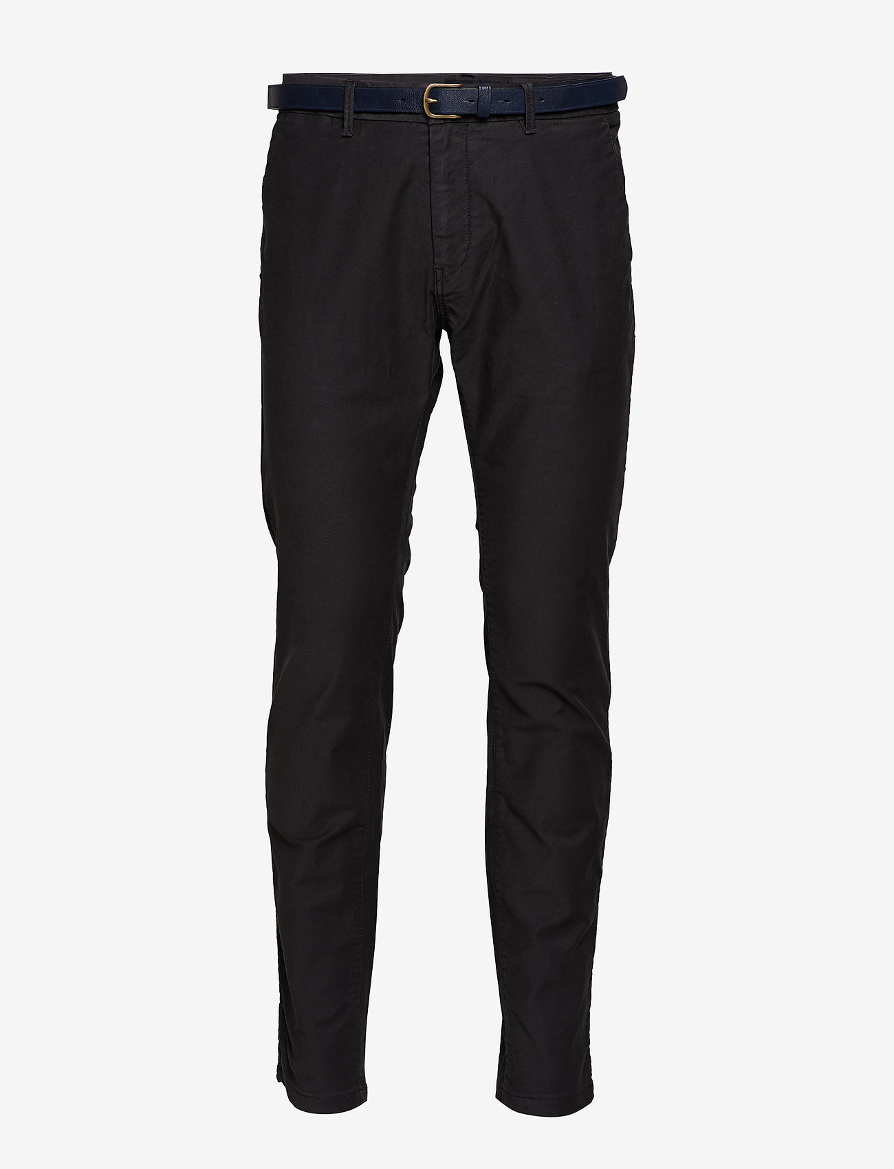 Scotch & Soda - STUART - Classic garment-dyed twill chino - charcoal - 0