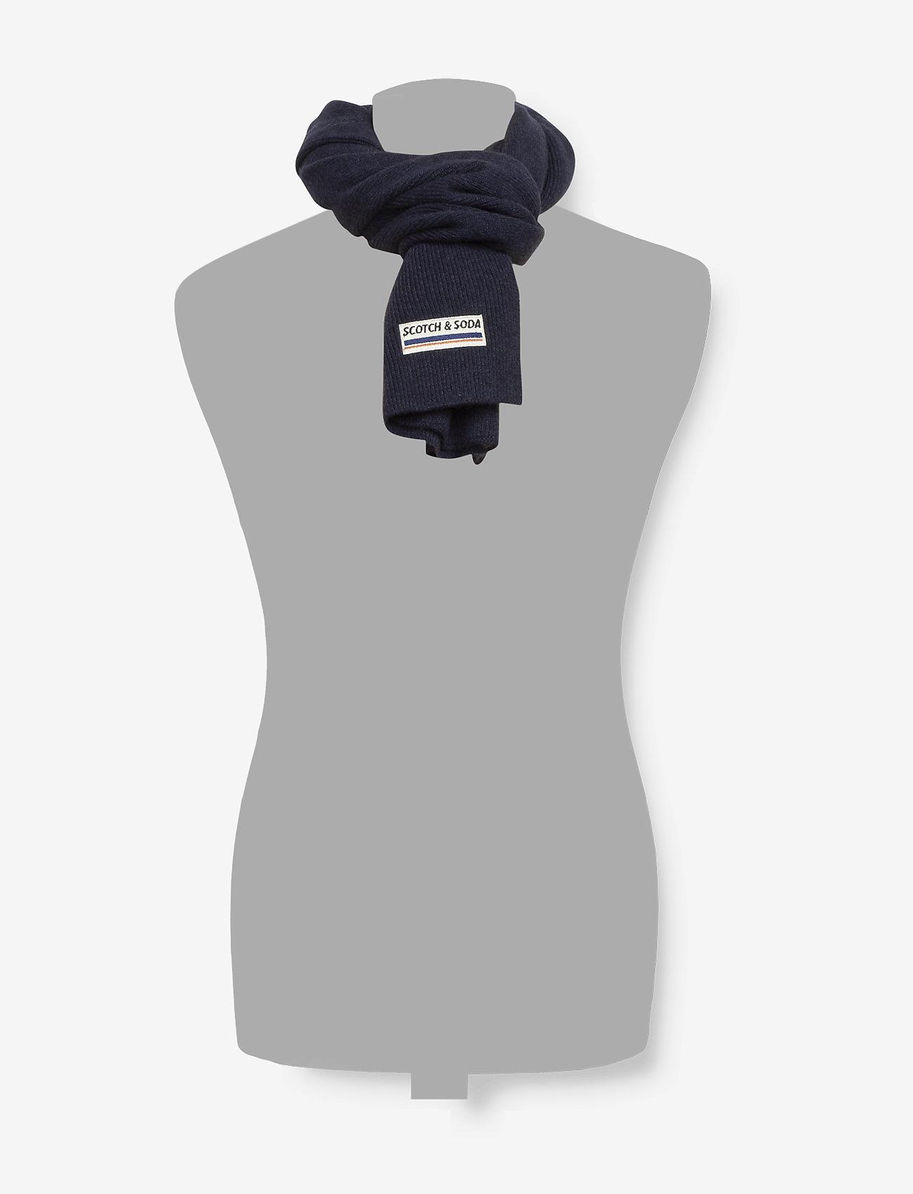 Scotch & Soda - Classic rib knit scarf in soft wool-blend quality - scarves - night - 1