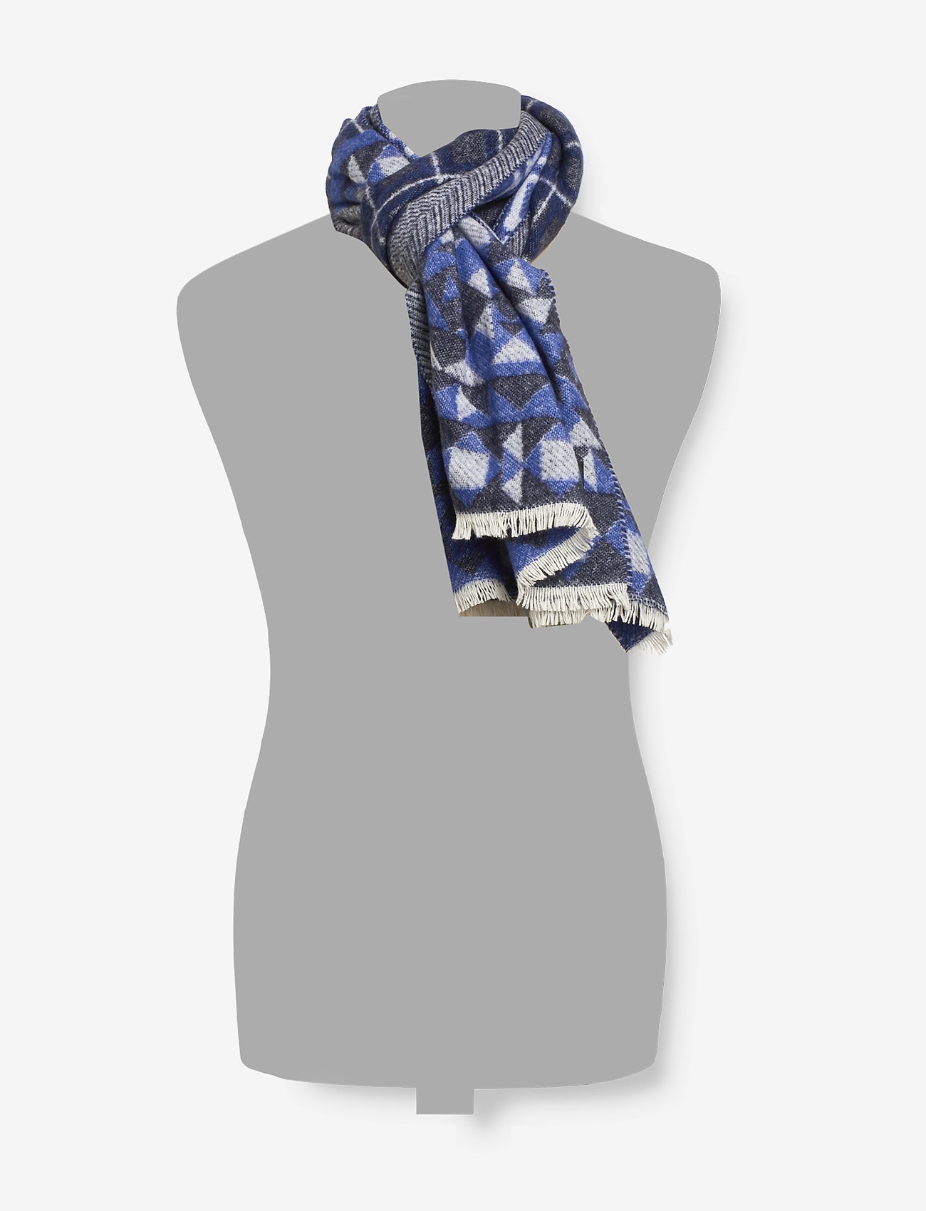 Scotch & Soda - Woven wool-blend scarf in mix and match patterns - scarves - combo b - 1