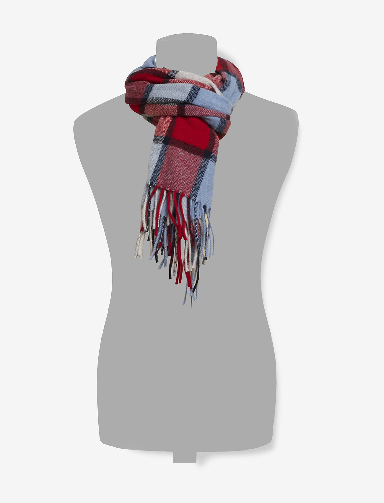 Scotch & Soda - Classic woven check scarf in wool-blend quality - scarves - combo c - 1