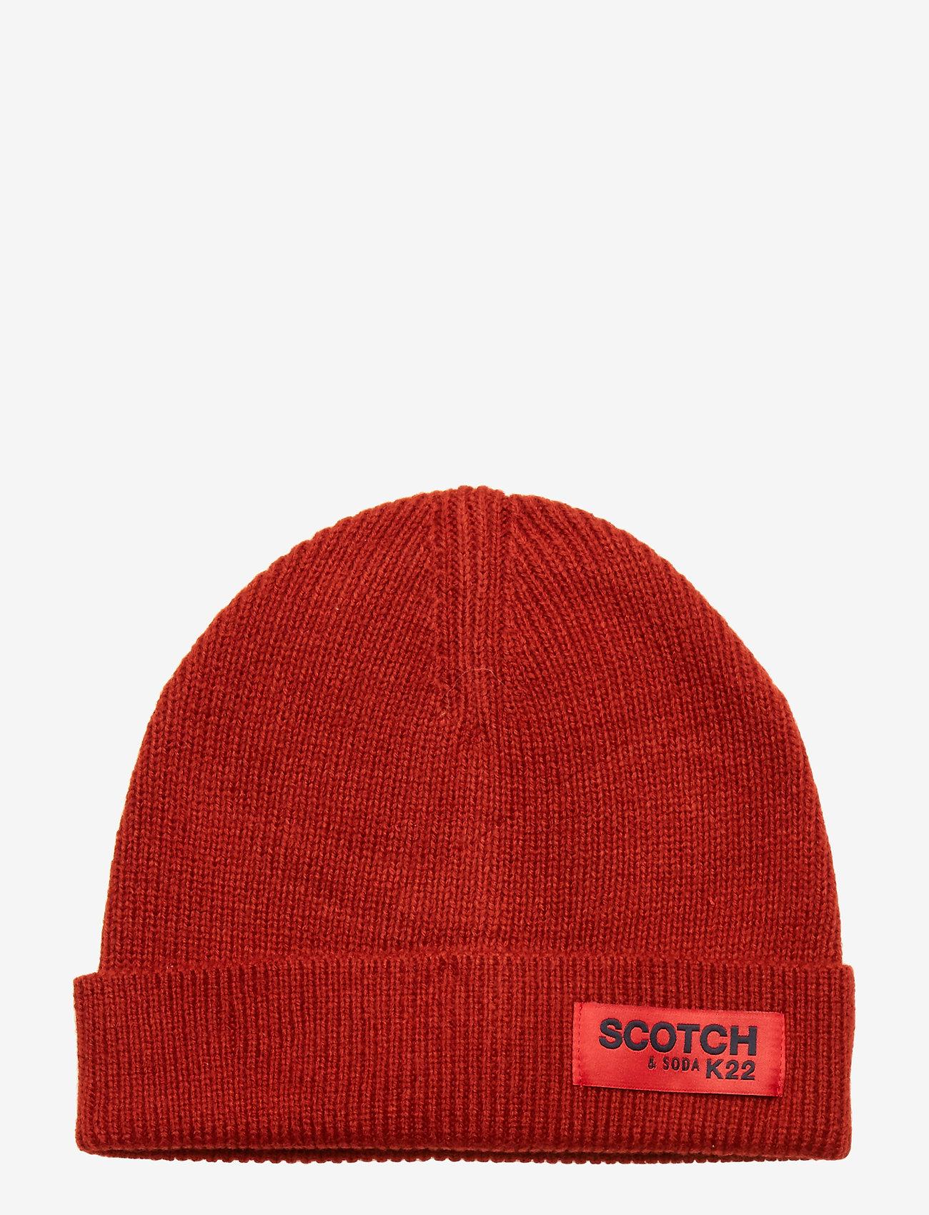 Scotch & Soda - Classic rib knit beanie - beanies - chili pepper - 0