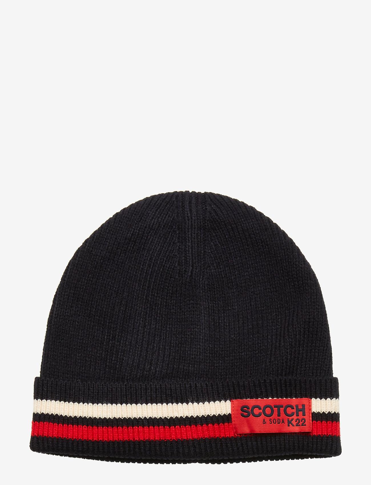 Scotch & Soda - Classic rib knit beanie - beanies - night - 0