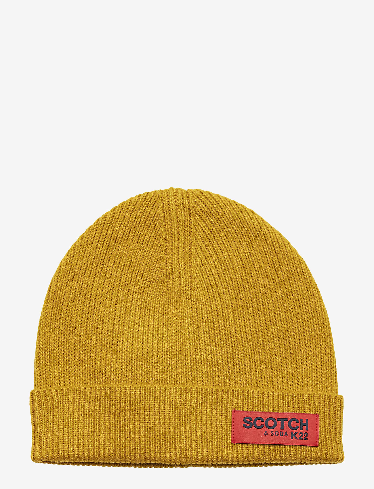 Scotch & Soda - Classic rib knit beanie - beanies - nutmeg - 0