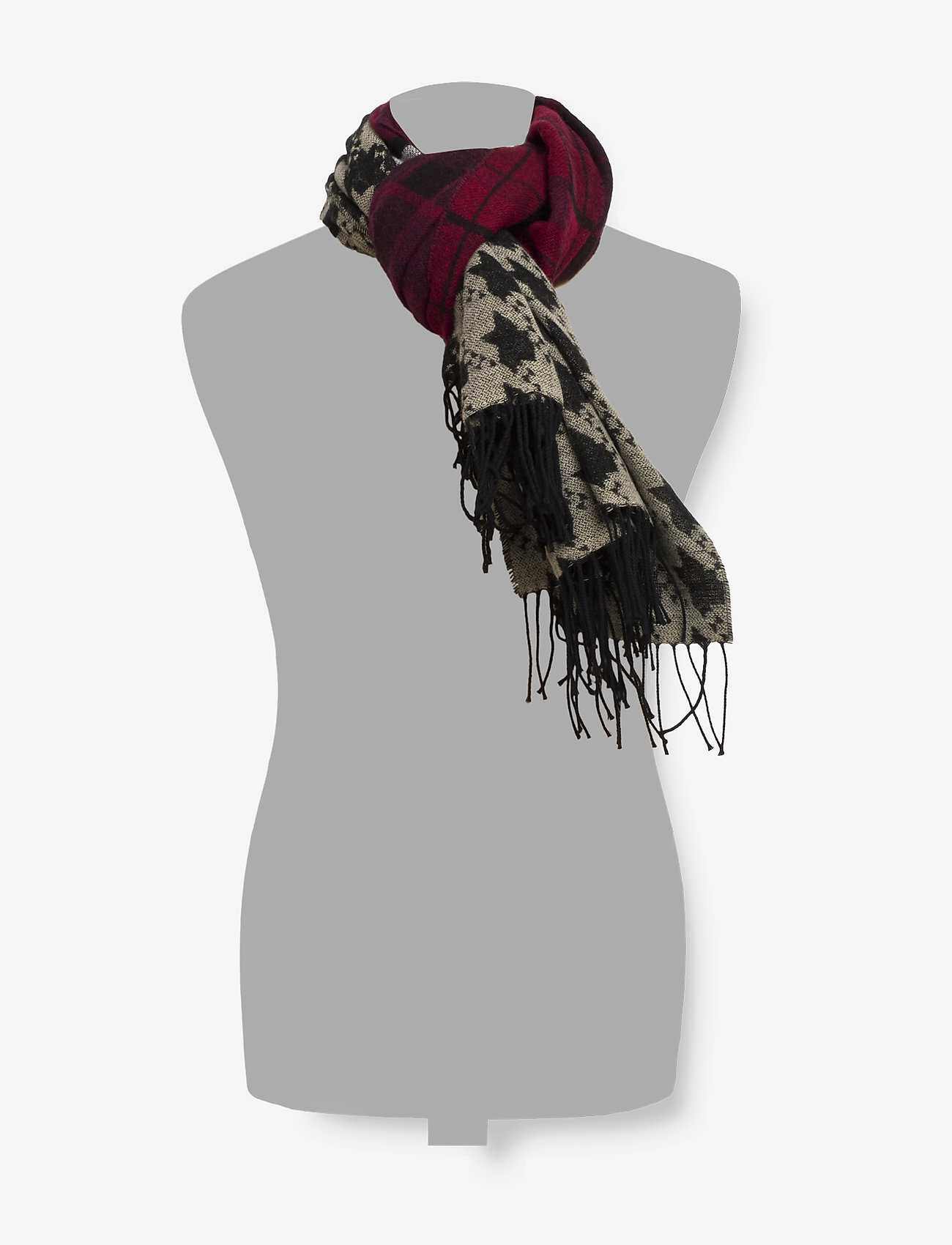 Scotch & Soda - Mixed pattern scarf - scarves - combo a - 1