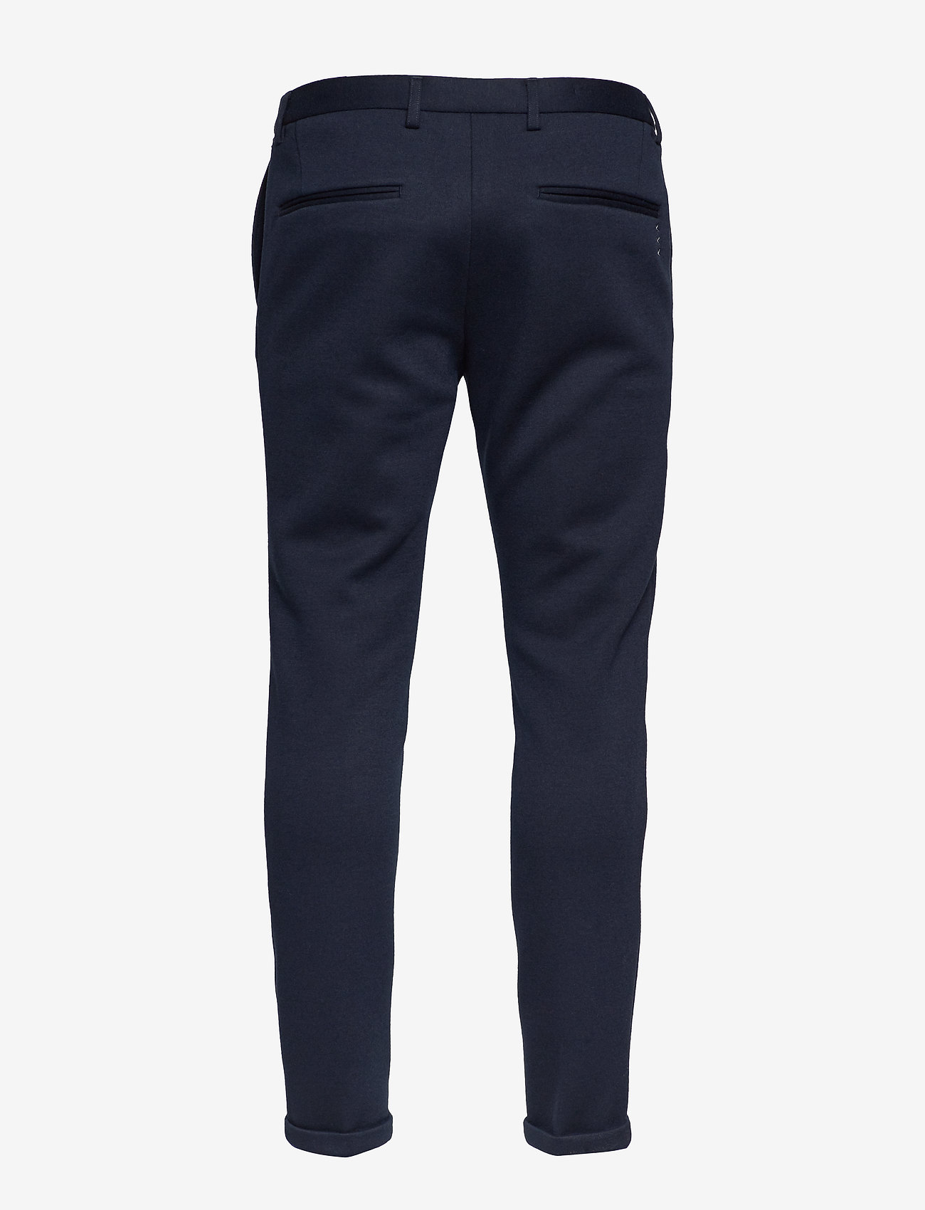 Scotch & Soda - Ams Blauw chic sweat pant with pintuck - suitbukser - navy - 1