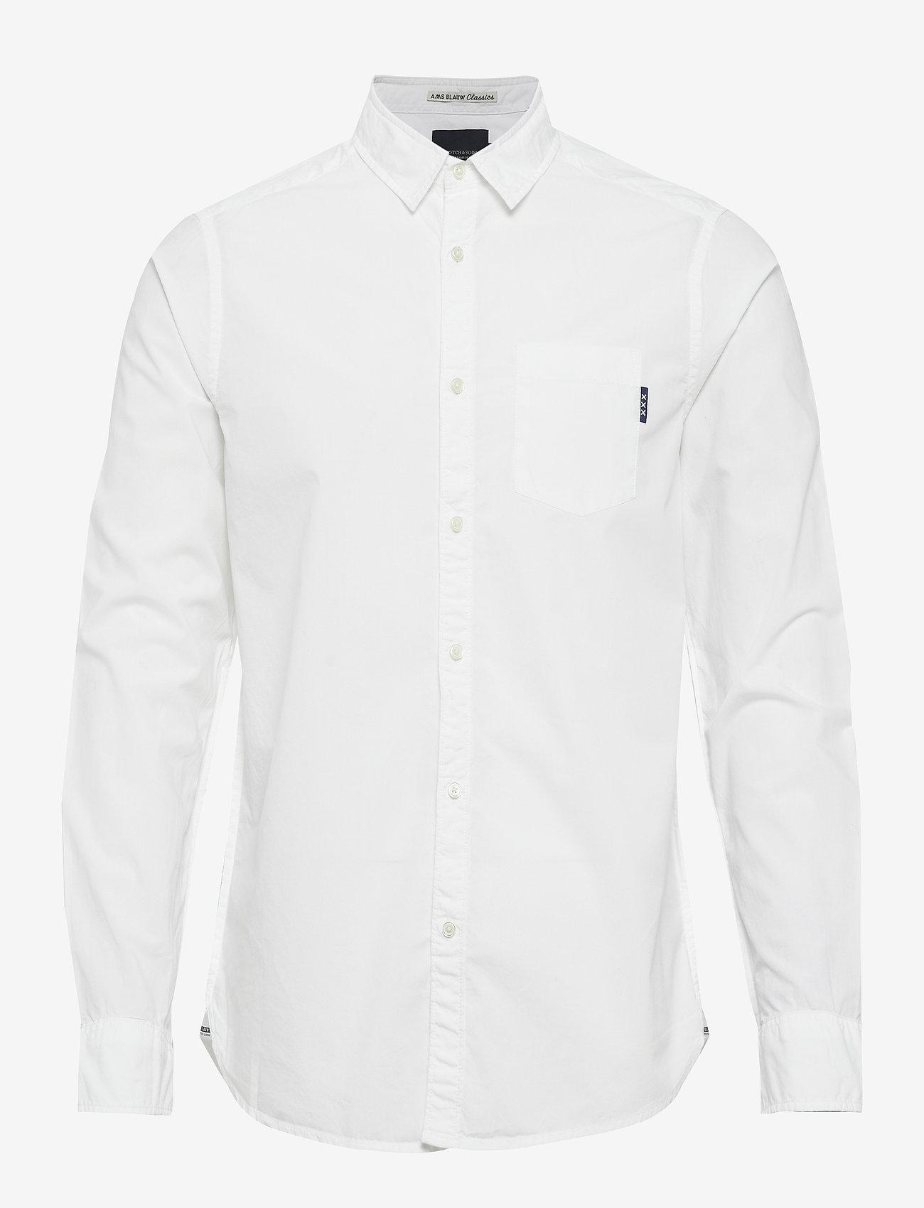 Scotch & Soda - Ams Blauw light weight shirt - basic shirts - off white - 0