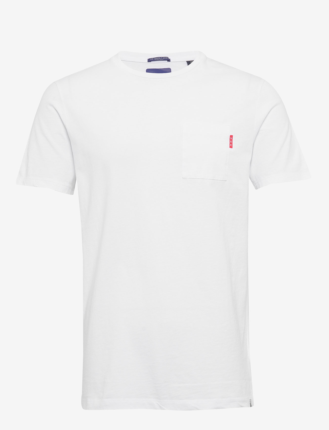 Scotch & Soda - Ams Blauw classic pocket tee - t-shirts basiques - white - 0