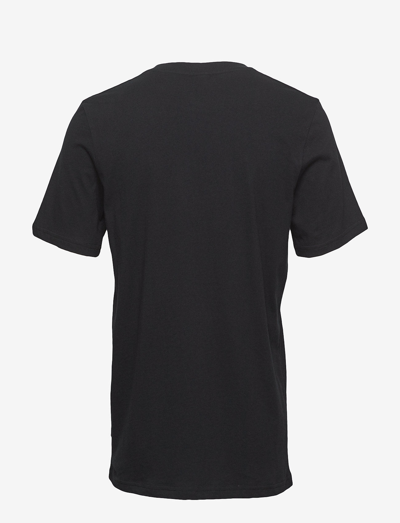 Scotch & Soda - Cotton tee with wider neck rib - t-shirts basiques - black - 1