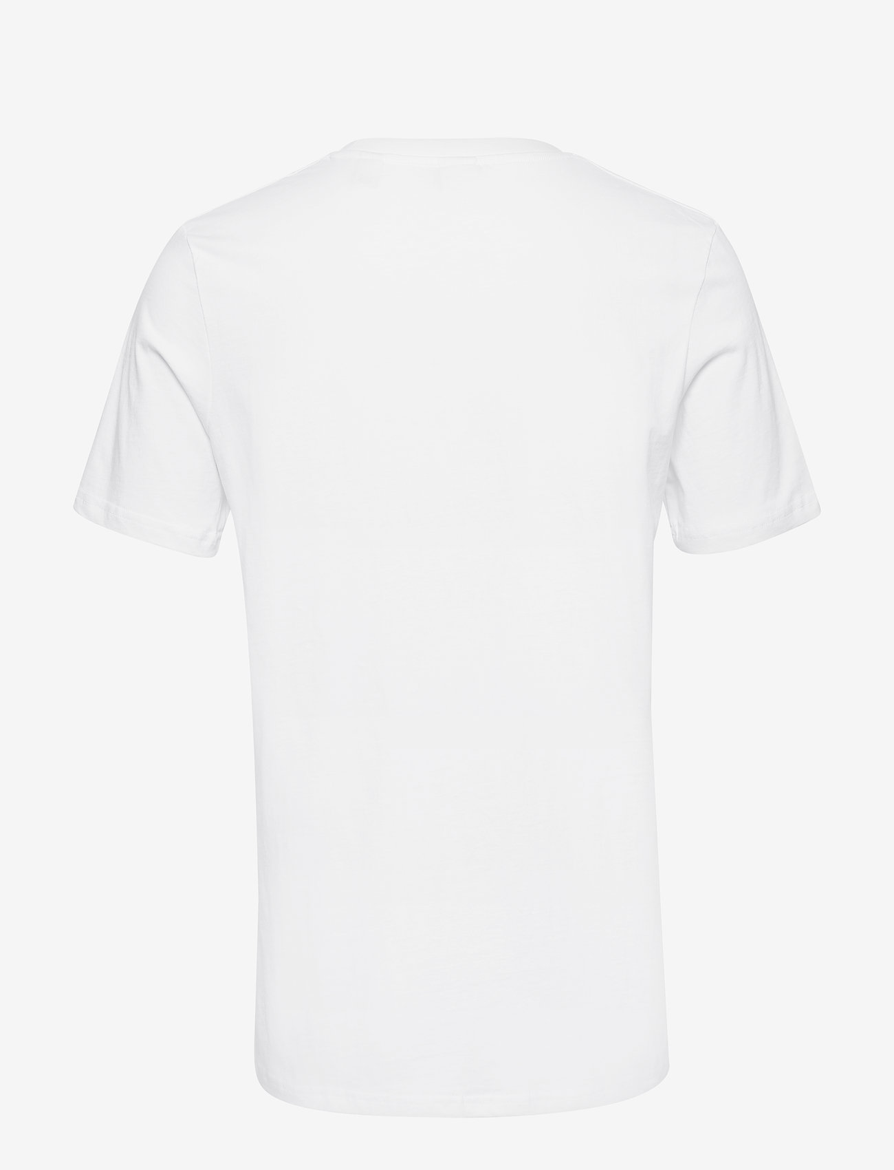 Scotch & Soda - Cotton tee with wider neck rib - t-shirts basiques - white - 1