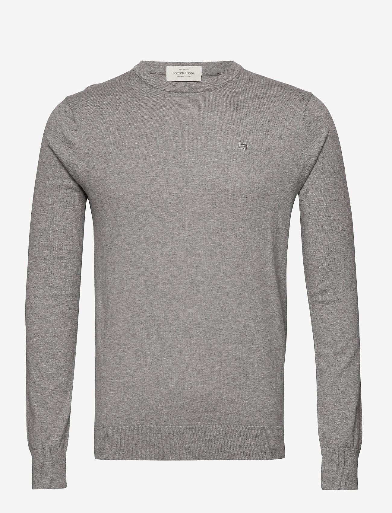 Scotch & Soda - NOS Cotton cashmere crewneck knit - pulls col rond - grey melange - 0