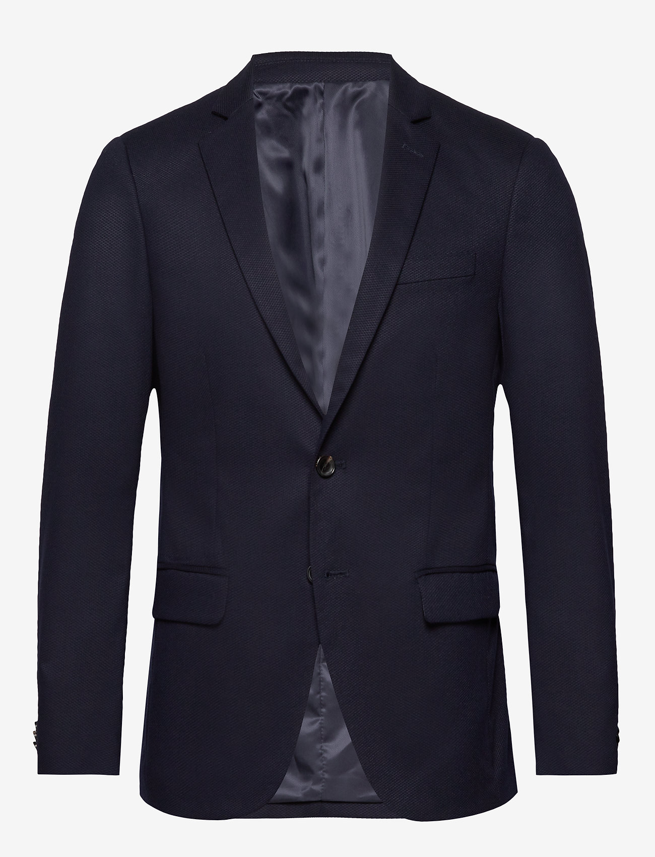 Scotch & Soda - NOS Pique and constructed blazer - blazers à boutonnage simple - navy - 0