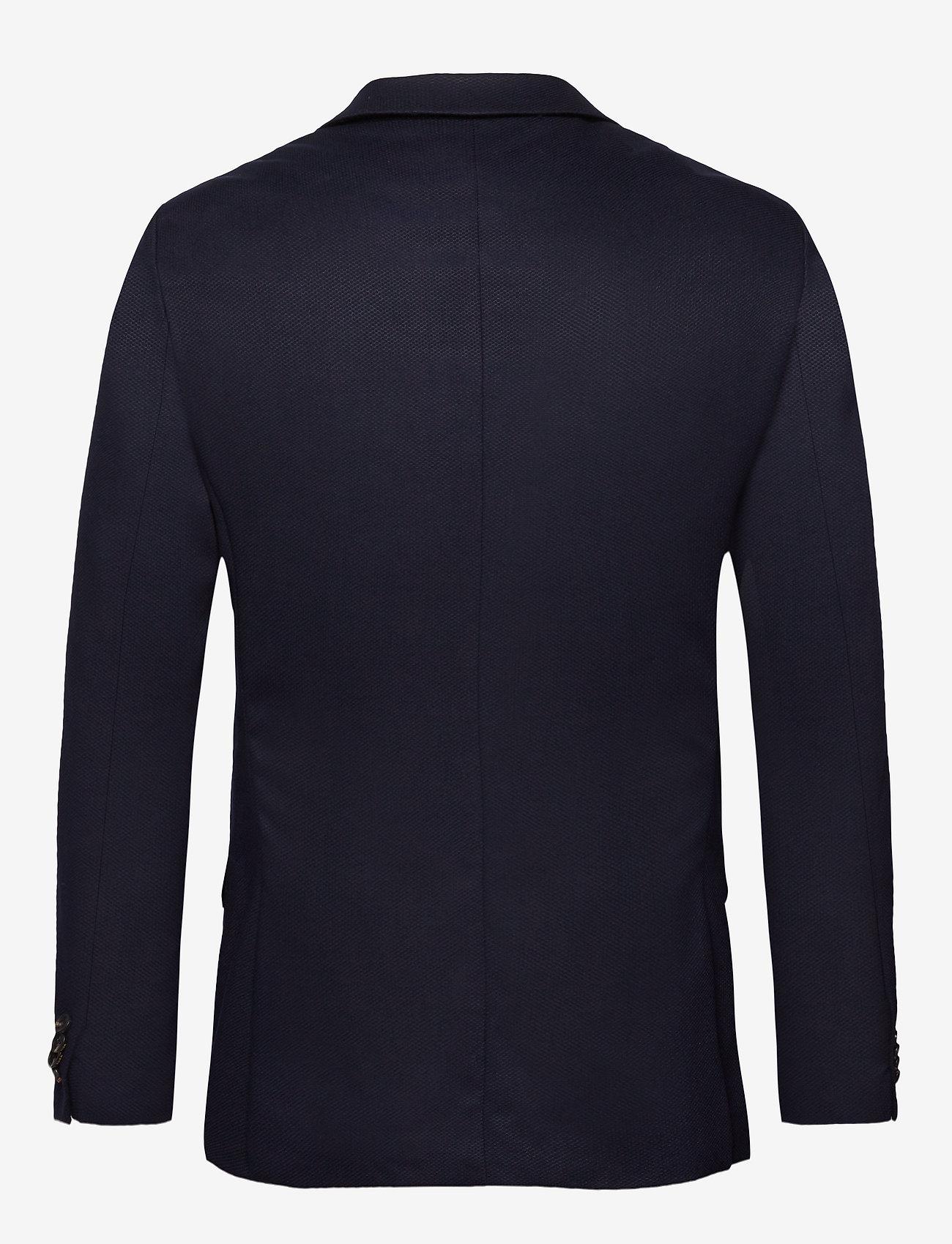 Scotch & Soda - NOS Pique and constructed blazer - blazers à boutonnage simple - navy - 1