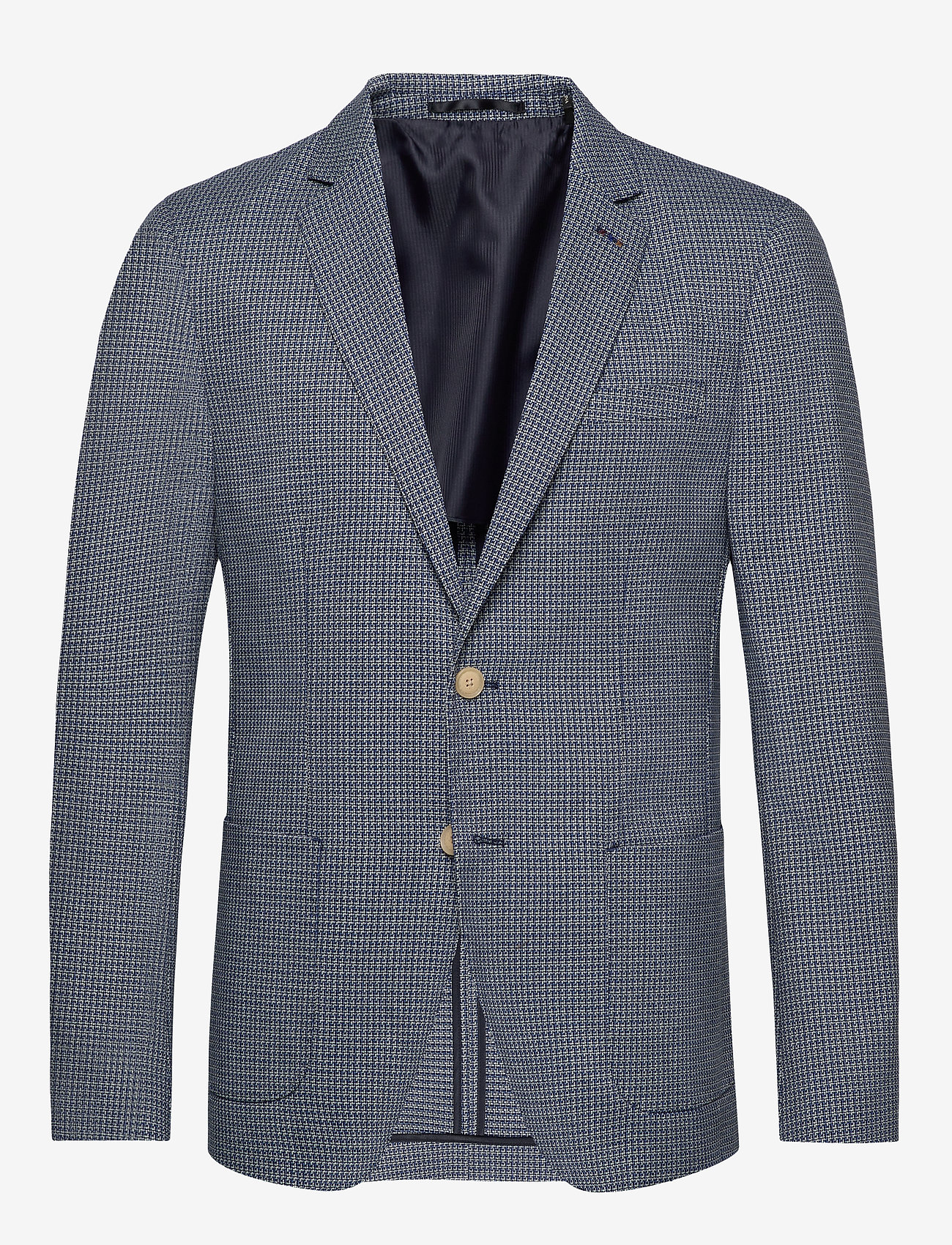Scotch & Soda - Classic blazer in structured yarn-dyed pattern - blazers à boutonnage simple - combo a - 0