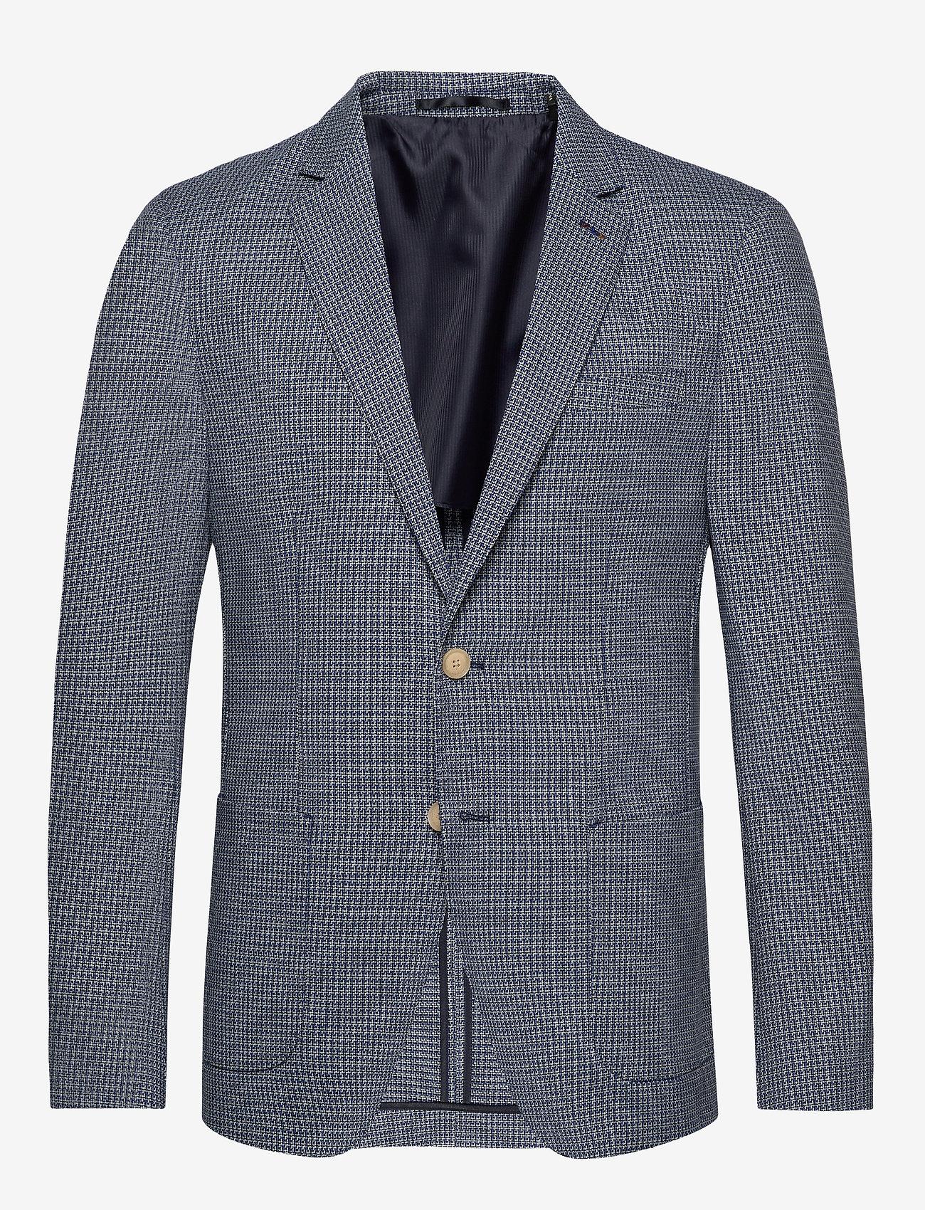 Scotch & Soda - Classic blazer in structured yarn-dyed pattern - enkeltradede blazere - combo a - 0