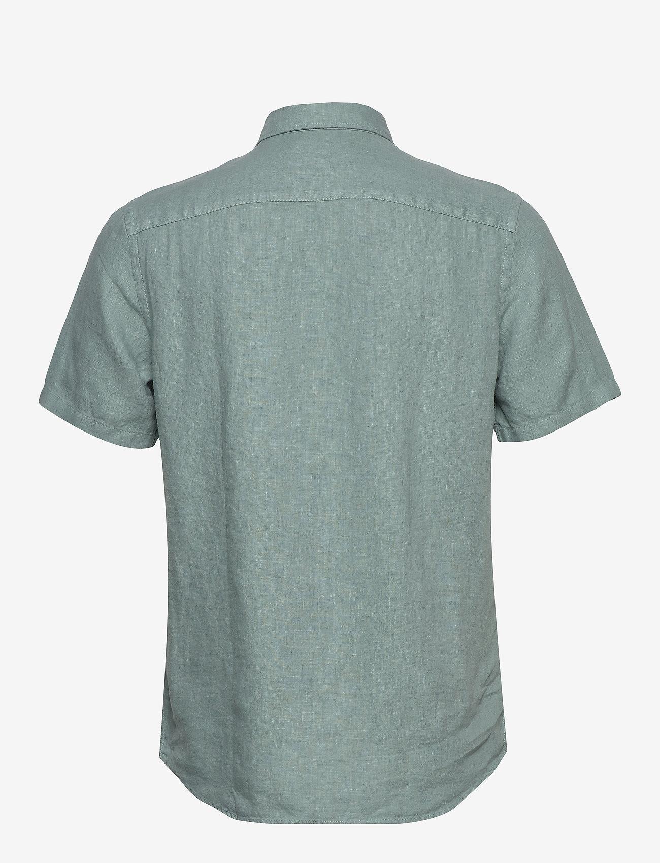 Scotch & Soda - REGULAR FIT- Shortsleeve garment -dyed linen shirt - basic skjorter - emerald - 1
