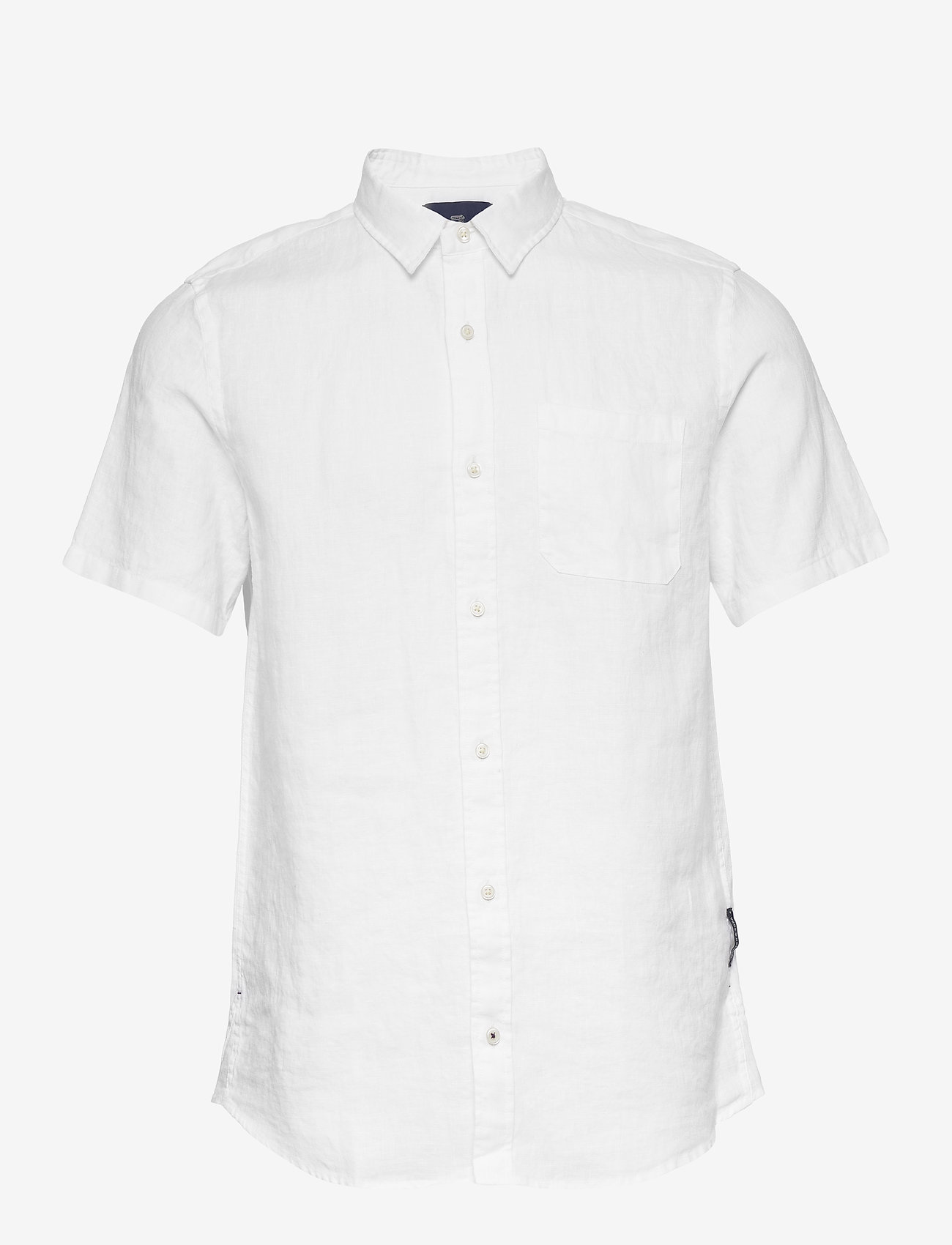 Scotch & Soda - REGULAR FIT- Shortsleeve garment -dyed linen shirt - basic shirts - white - 0