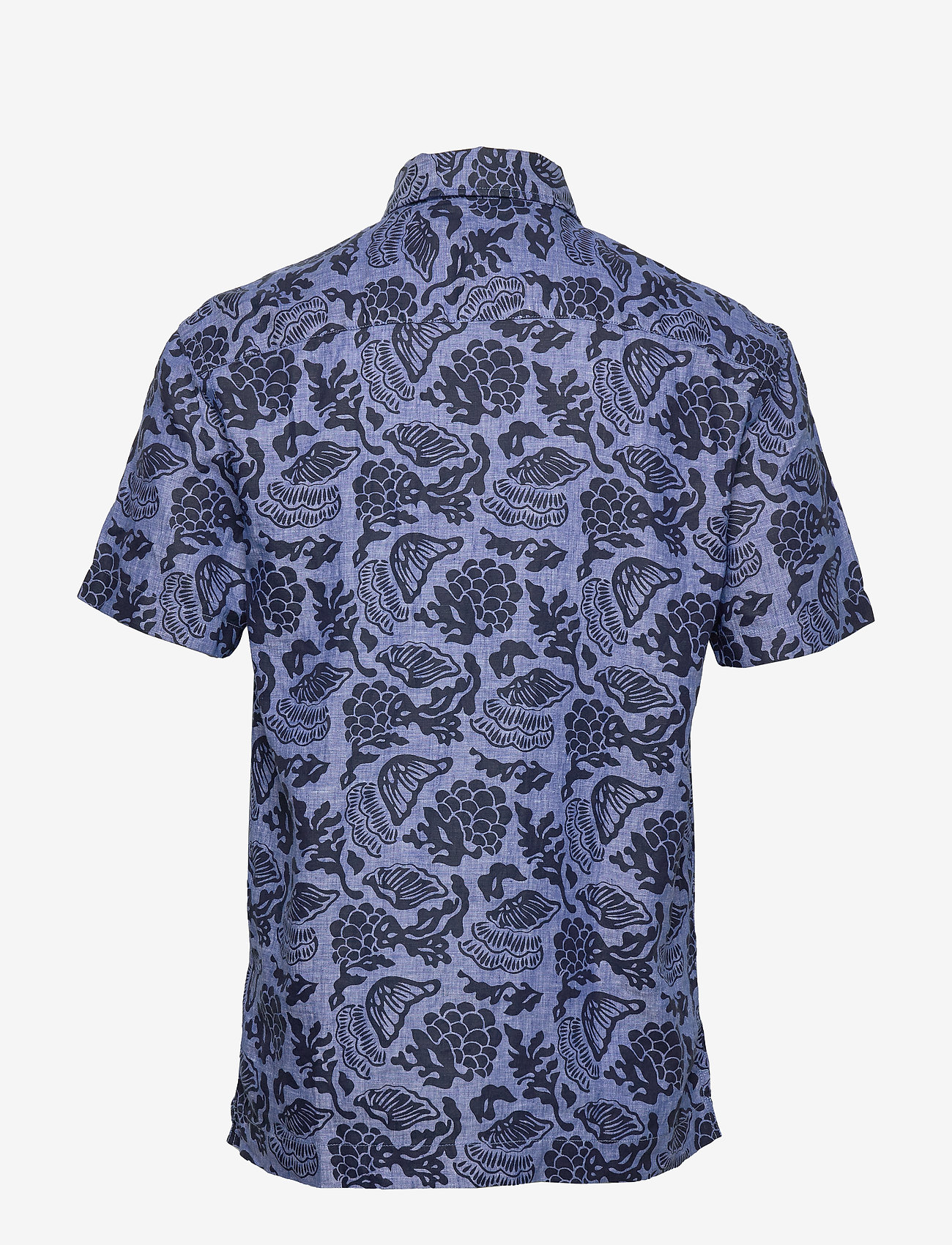 Scotch & Soda - HAWAII FIT- All-over  printed linen shortsleeve shirt - hørskjorter - combo a - 1