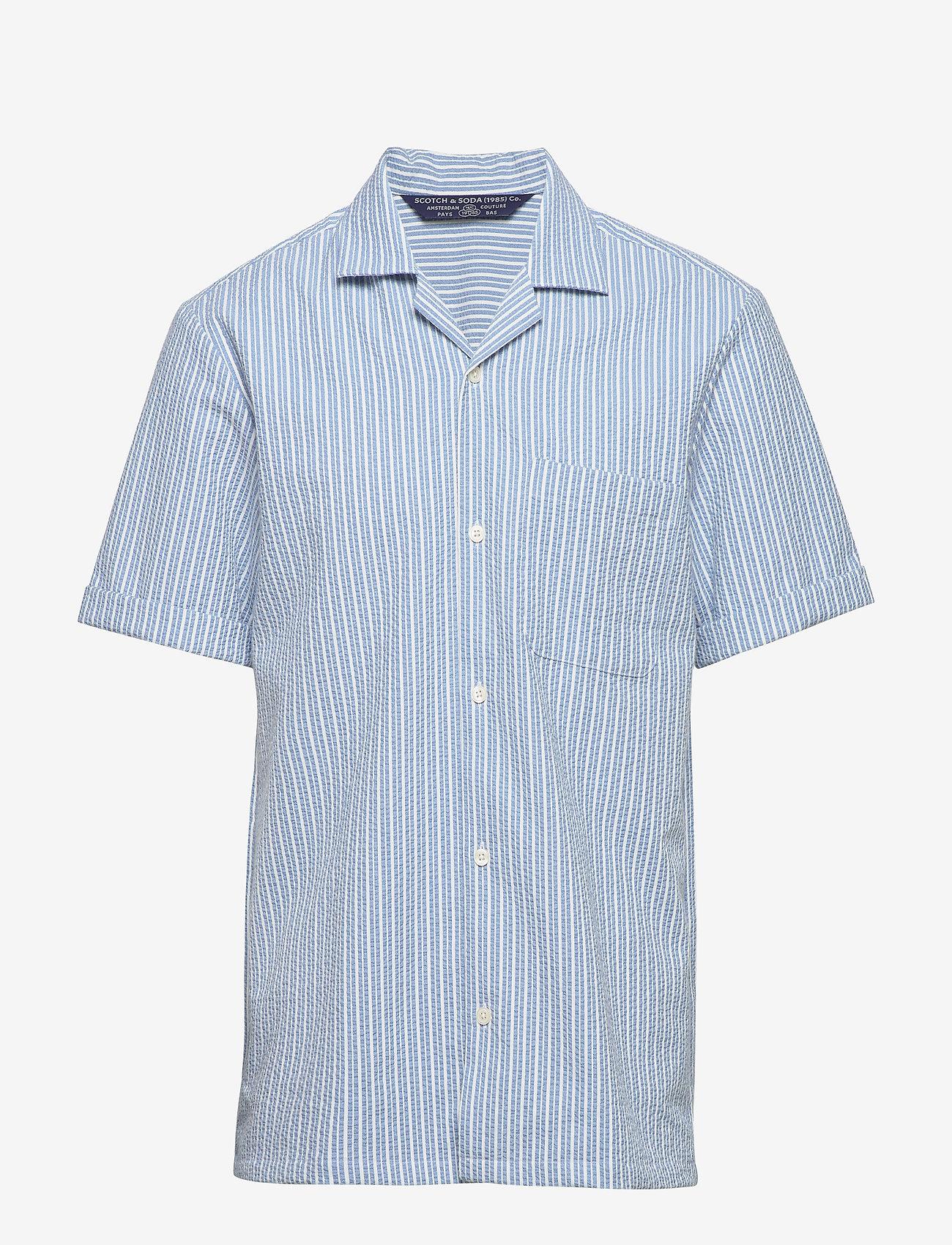Scotch & Soda - HAWAII FIT- Shortsleeve seersucker shirt - basic skjorter - combo a - 0