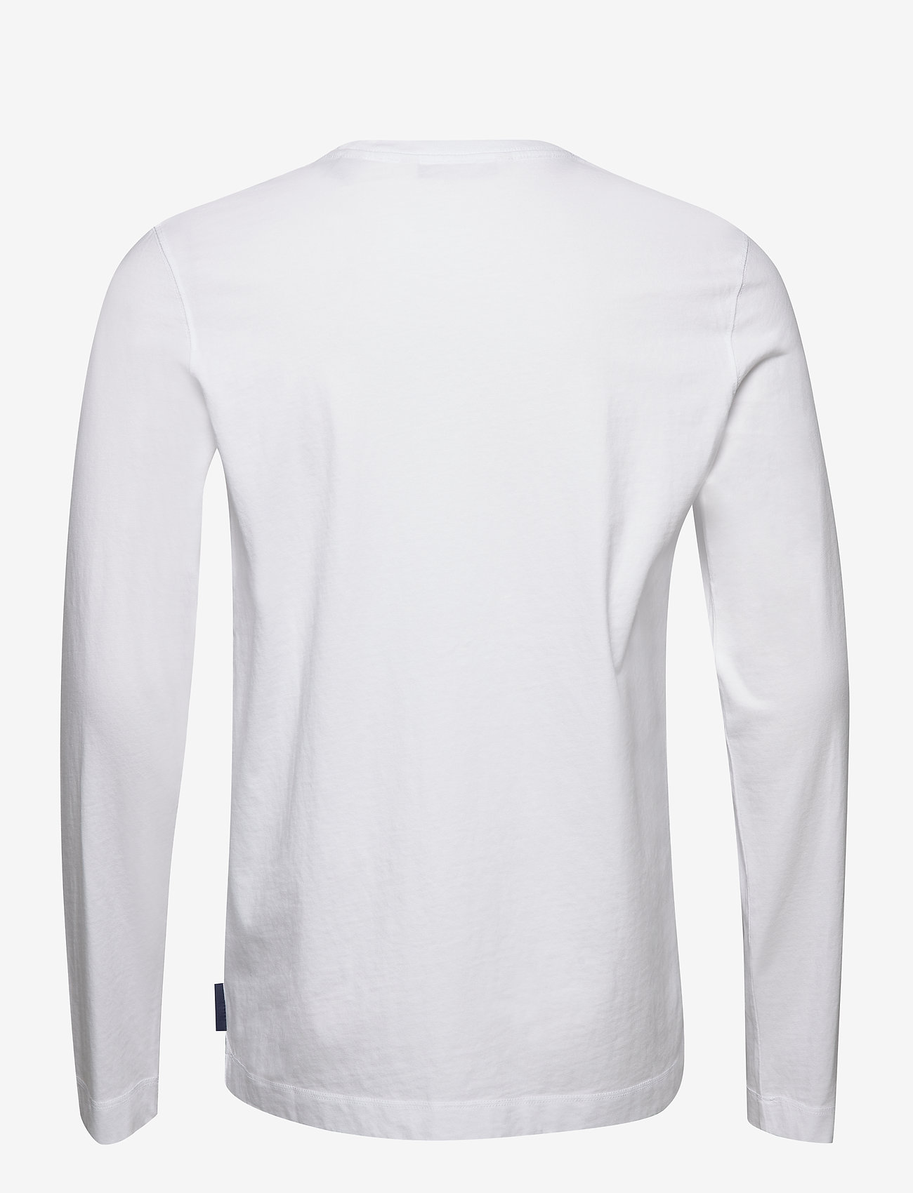 Scotch & Soda - Organic cotton longsleeve tee with chest artwork - t-shirts basiques - white - 1