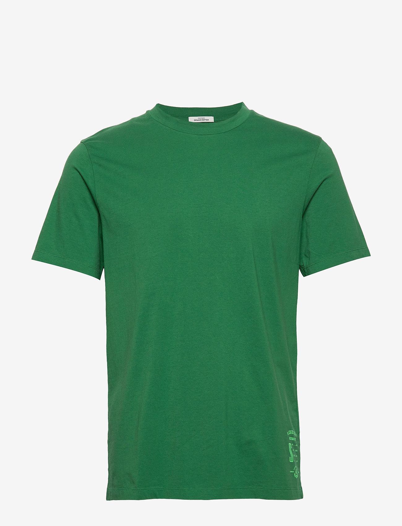 Scotch & Soda - Classic crewneck tee in organic cotton jersey - basic t-shirts - fern - 0