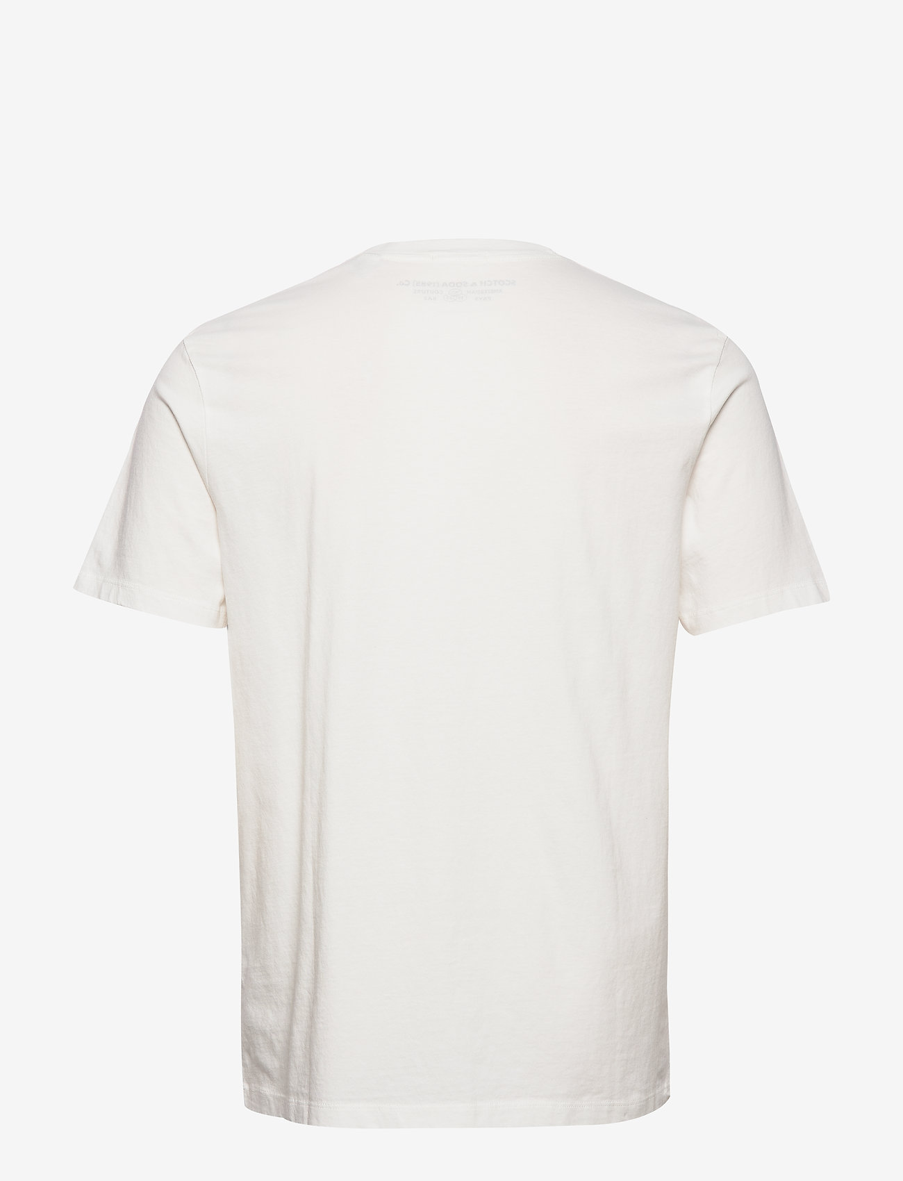 Scotch & Soda - Classic crewneck tee in organic cotton jersey - basic t-shirts - raw cotton - 1