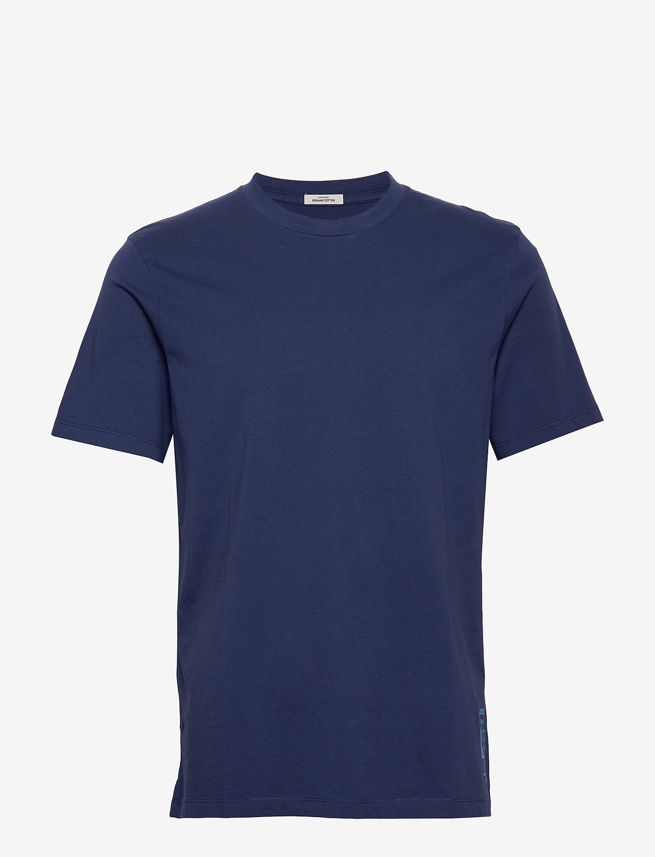 Scotch & Soda - Classic crewneck tee in organic cotton jersey - t-shirts basiques - worker blue - 0