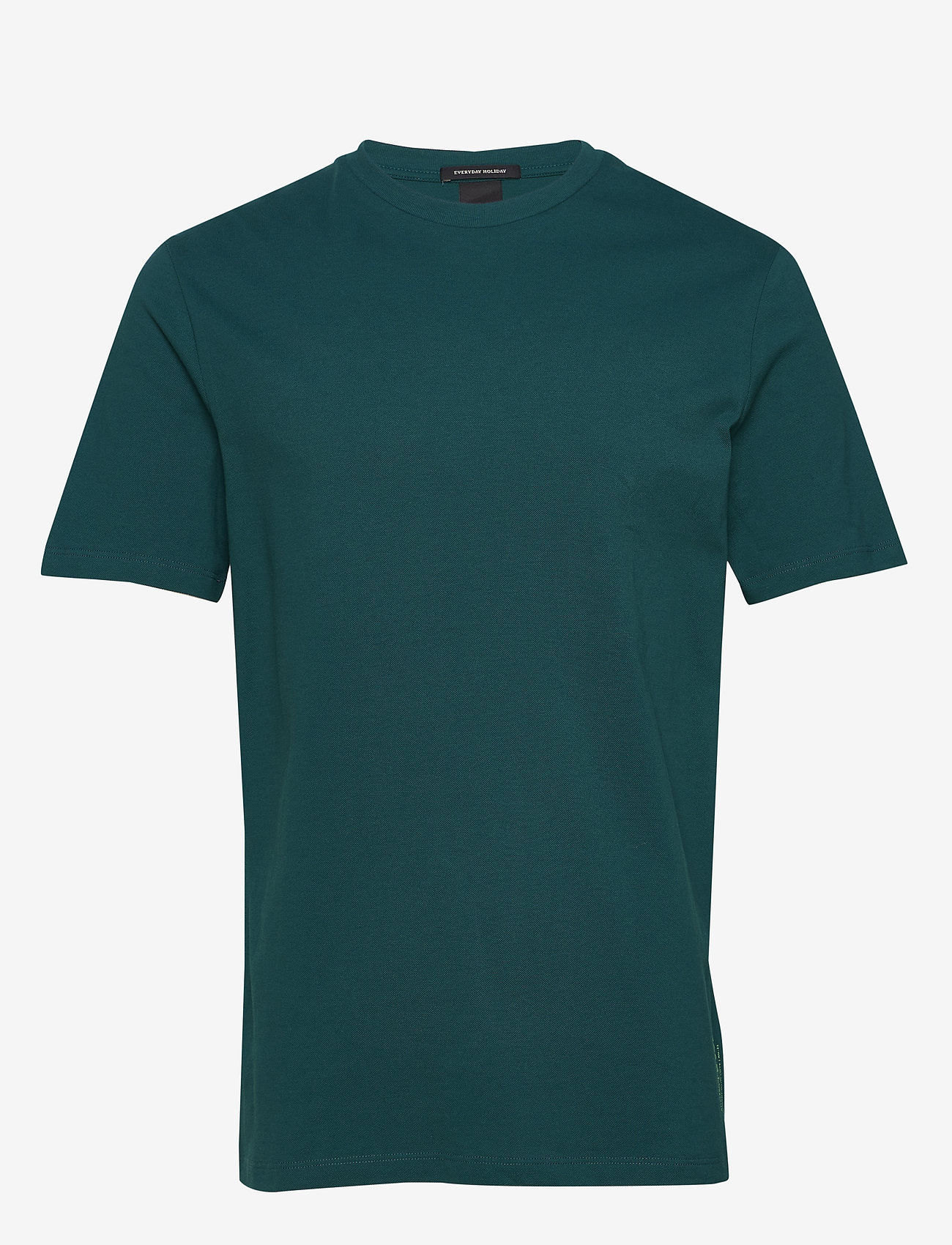Scotch & Soda - Classic pique crewneck tee - t-shirts basiques - deep sea green - 0
