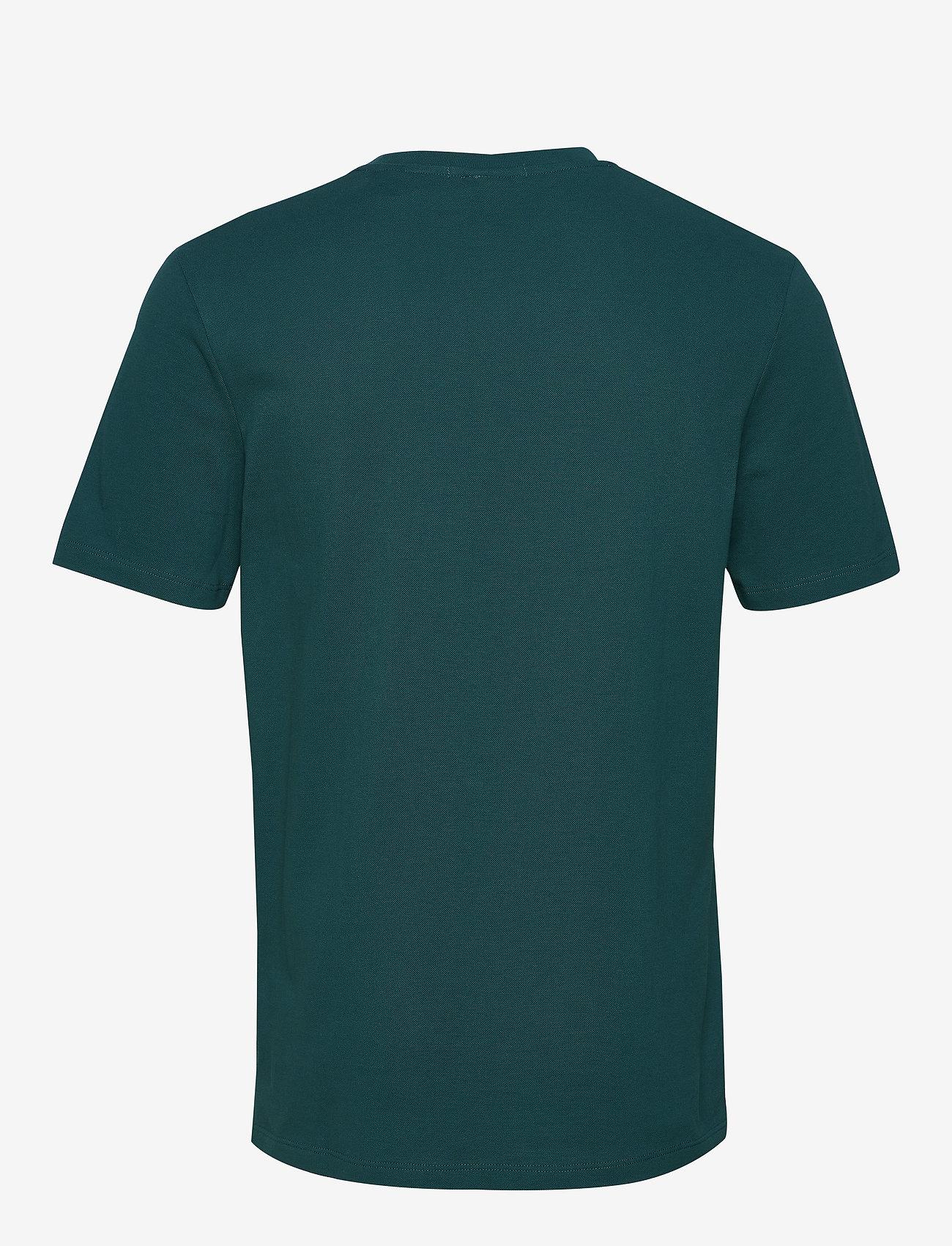 Scotch & Soda - Classic pique crewneck tee - t-shirts basiques - deep sea green - 1