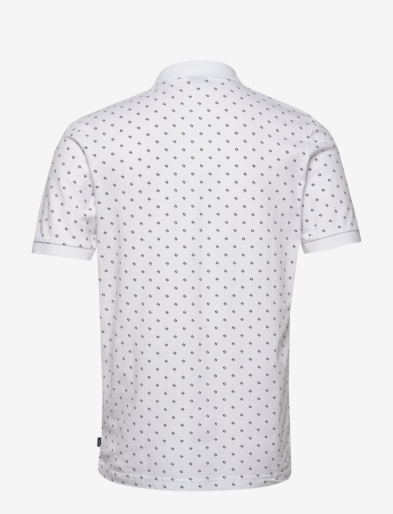 Scotch & Soda - All-over printed polo in stretch pique quality - short-sleeved polos - combo b - 1