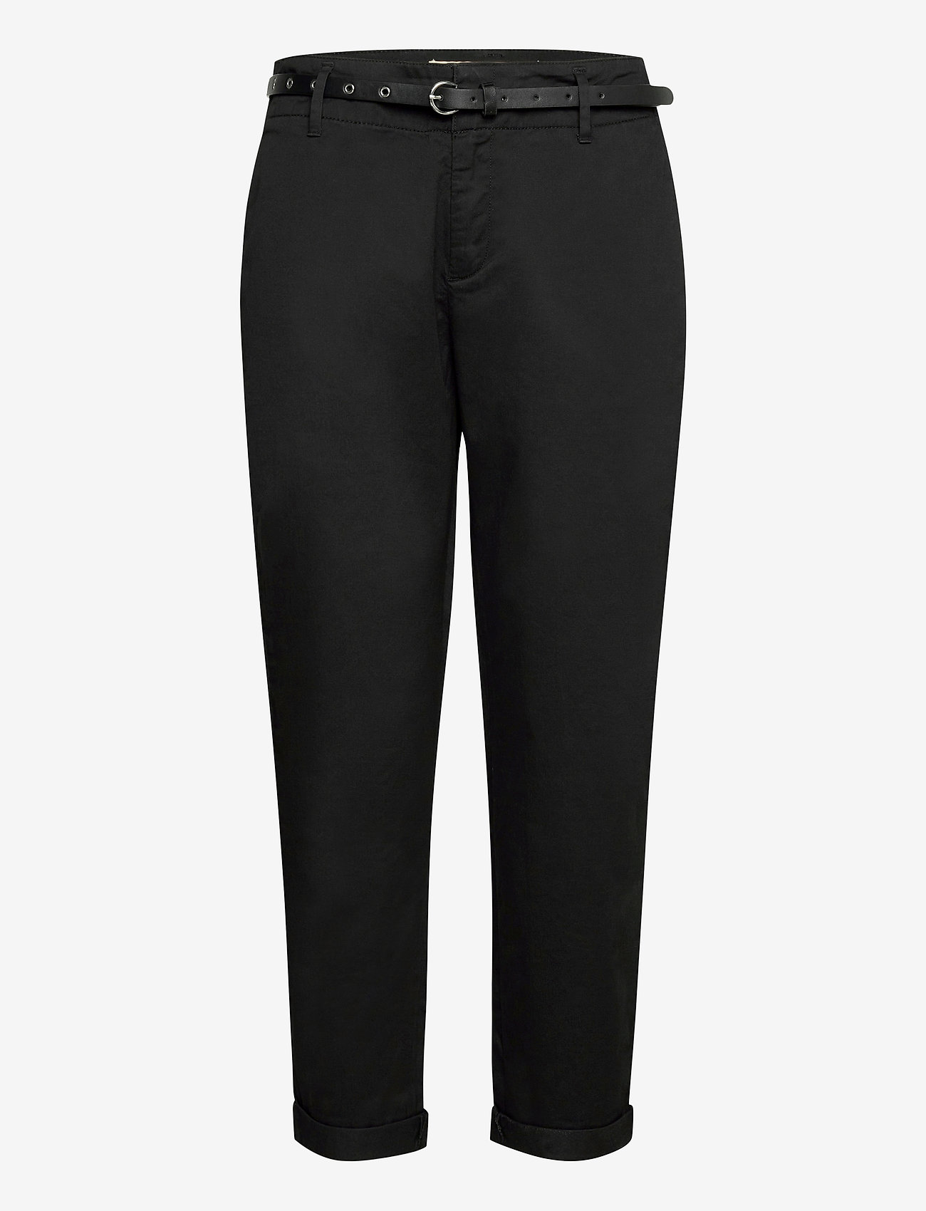 Scotch & Soda - Regular fit chino, sold with a belt - chinos - black - 0