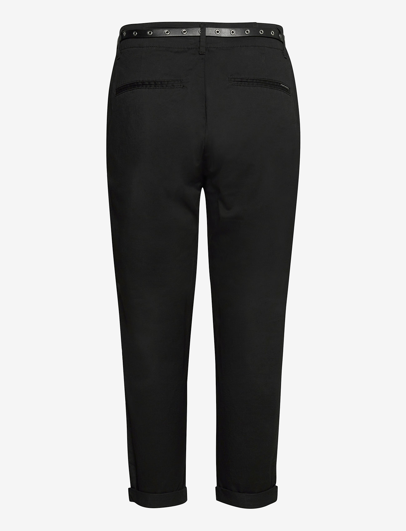 Scotch & Soda - Regular fit chino, sold with a belt - chinos - black - 1