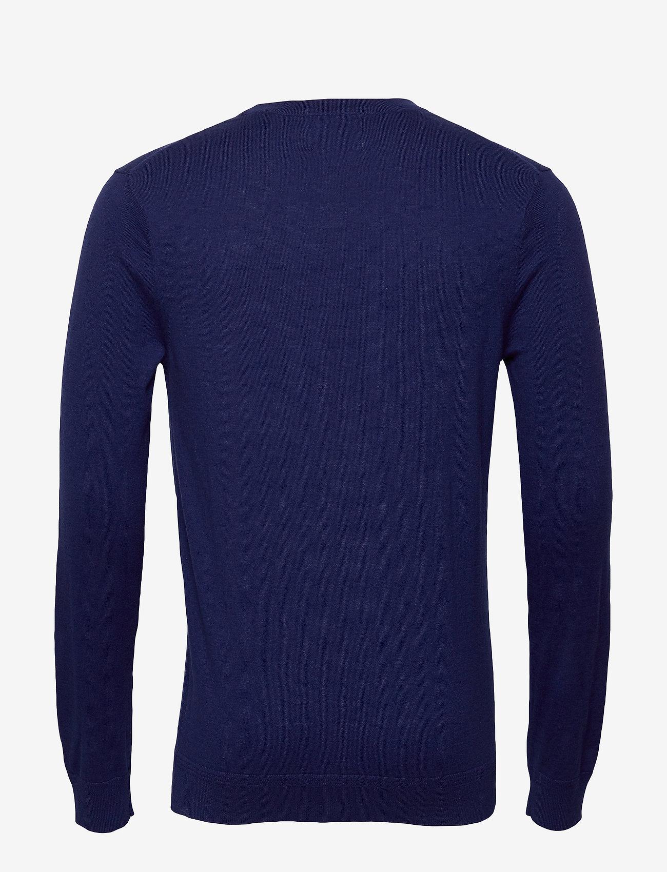 Scotch & Soda - Ams Blauw cotton cashmere crew  neck pull - tricots basiques - sacre blue - 1