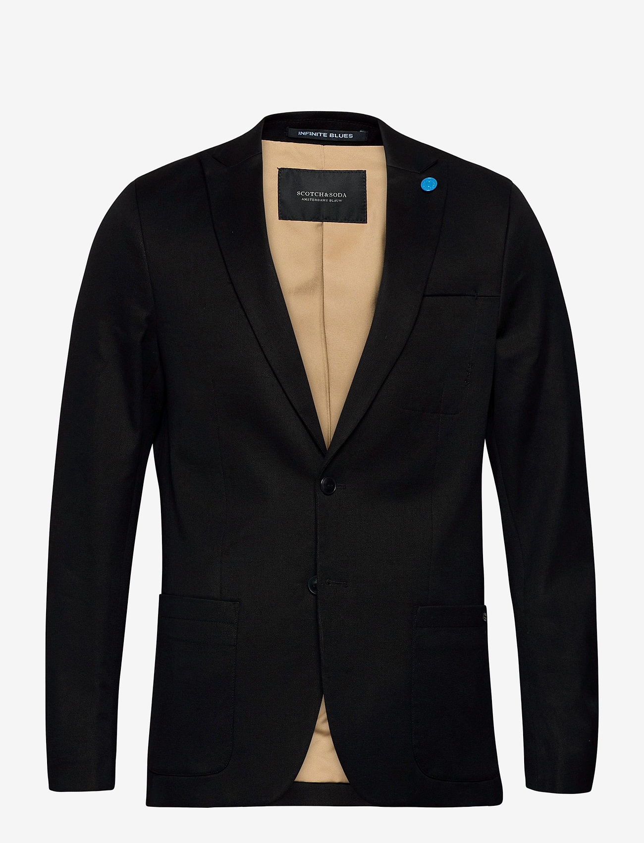 Scotch & Soda - Ams Blauw indigo blazer - enkelknäppta kavajer - indigo - 0