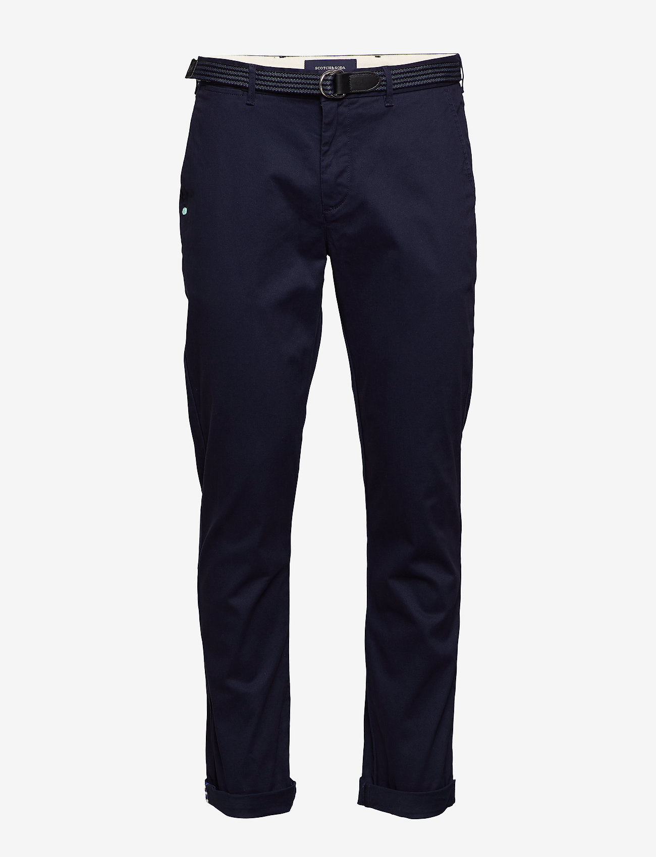 Scotch & Soda - Stuart peached twill chino with give away belt - chinos - midnight - 0