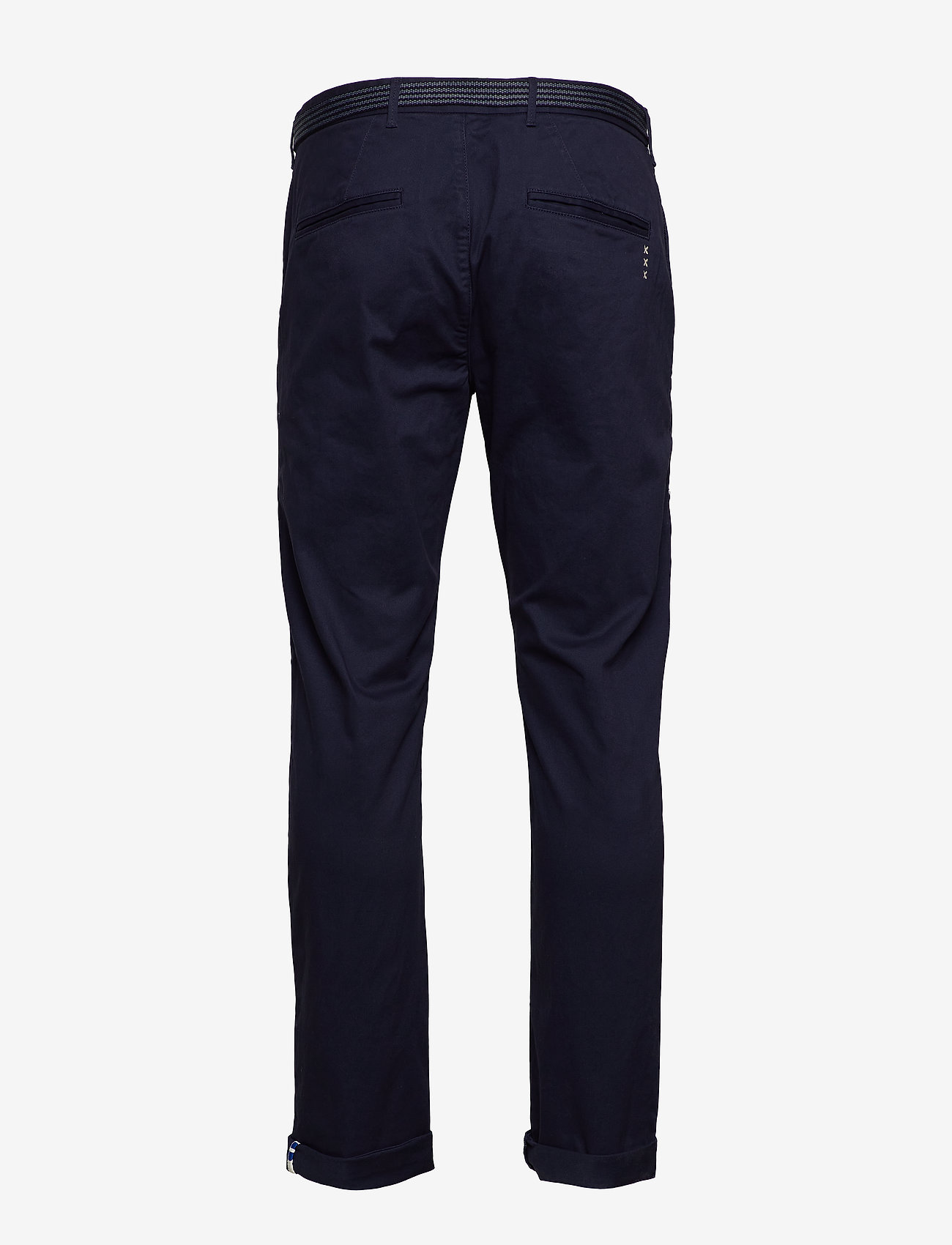 Scotch & Soda - Stuart peached twill chino with give away belt - chinos - midnight - 1
