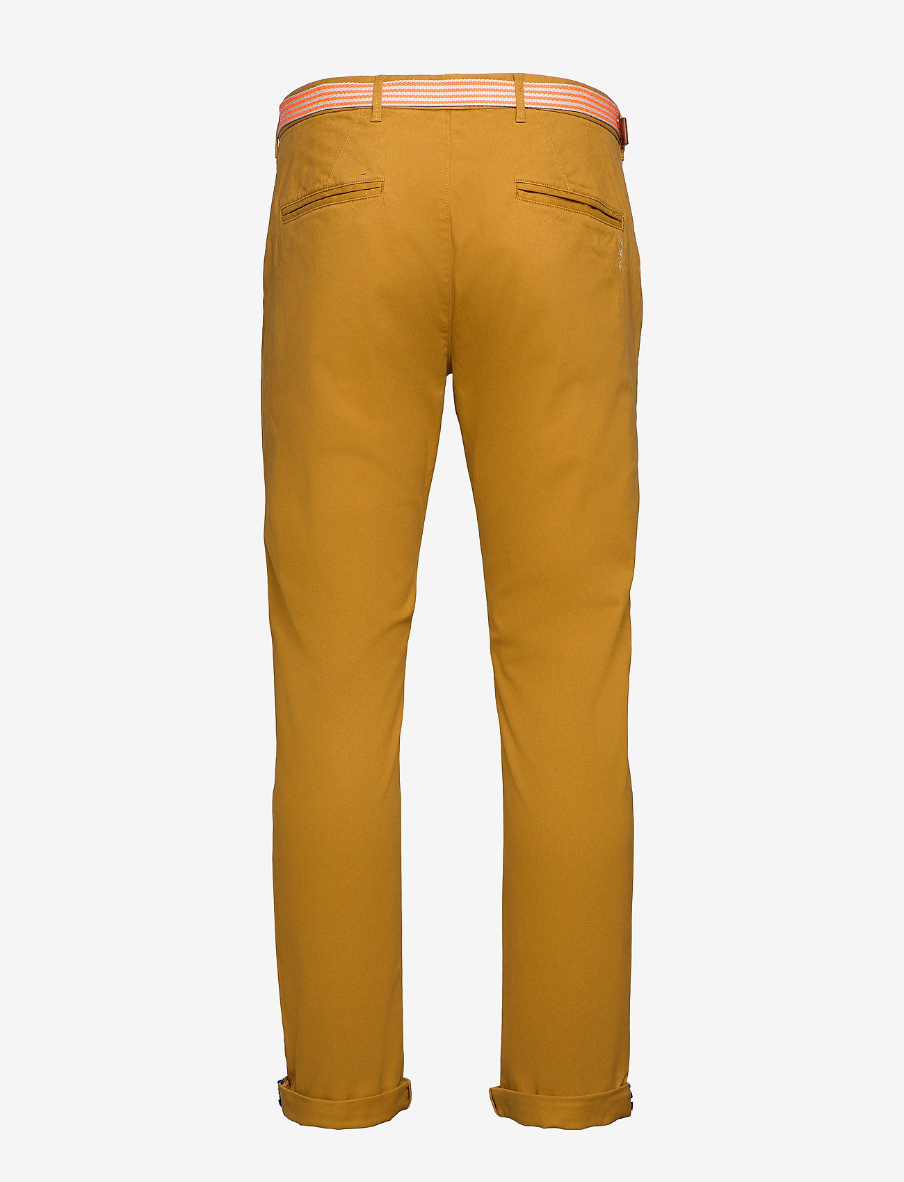 Scotch & Soda - Stuart peached twill chino with give away belt - chinos - sandlewood - 1