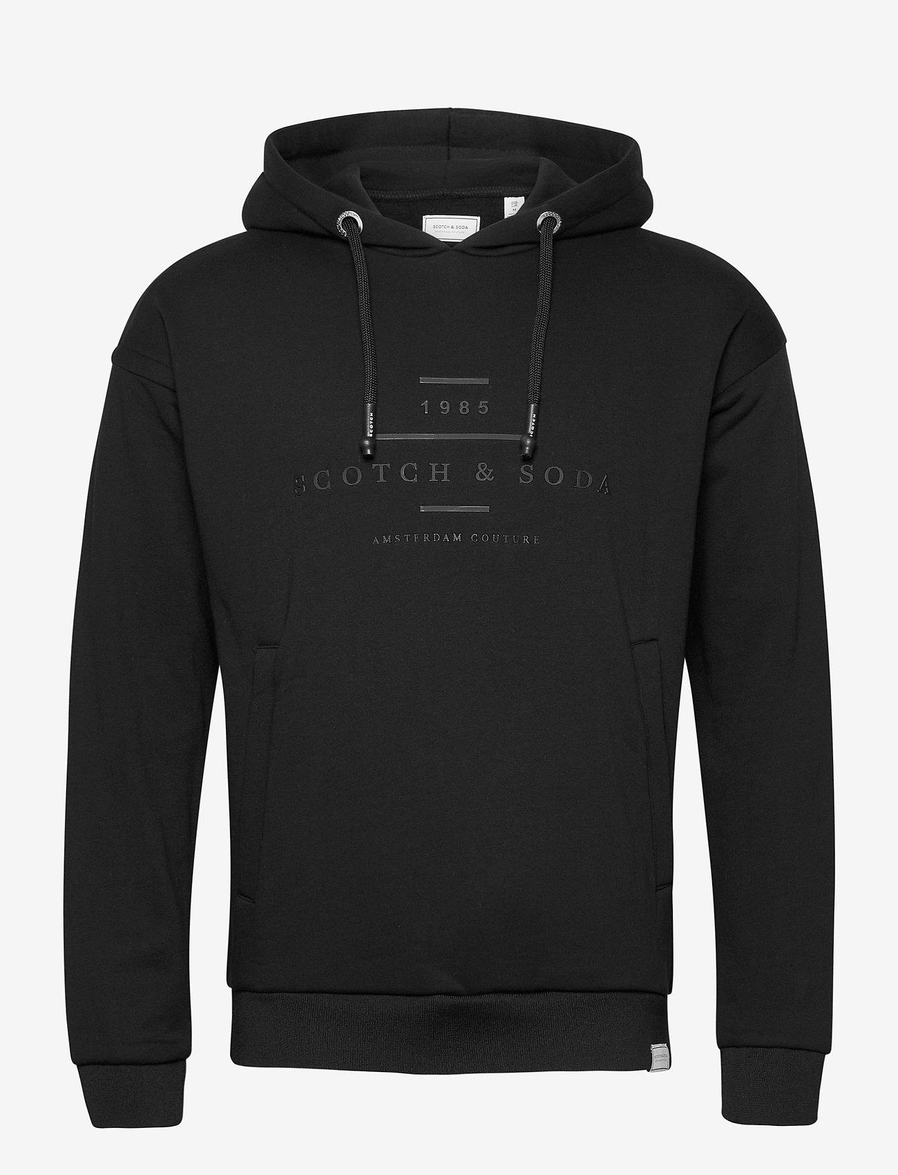 Scotch & Soda - Scotch & Soda hooded sweat - hoodies - black - 0
