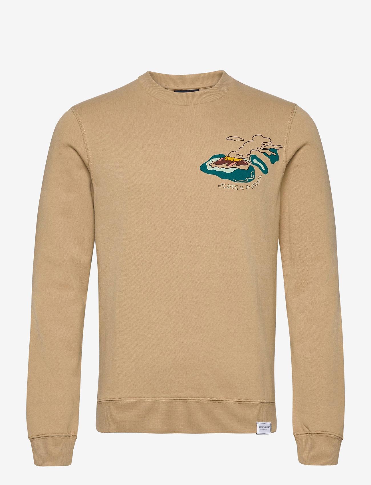 Scotch & Soda - Crew neck  sweat with aop - sweatshirts - combo a - 0