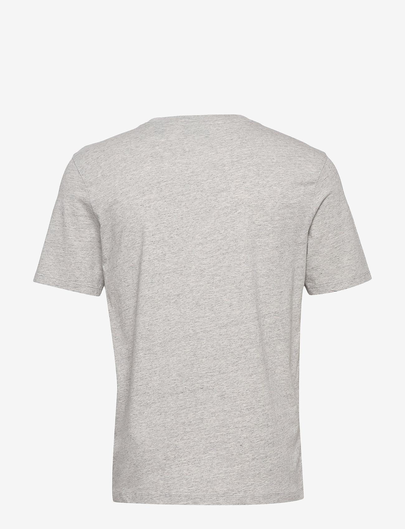 Scotch & Soda - Scotch & Soda crew neck logo tee - short-sleeved t-shirts - grey melange - 1